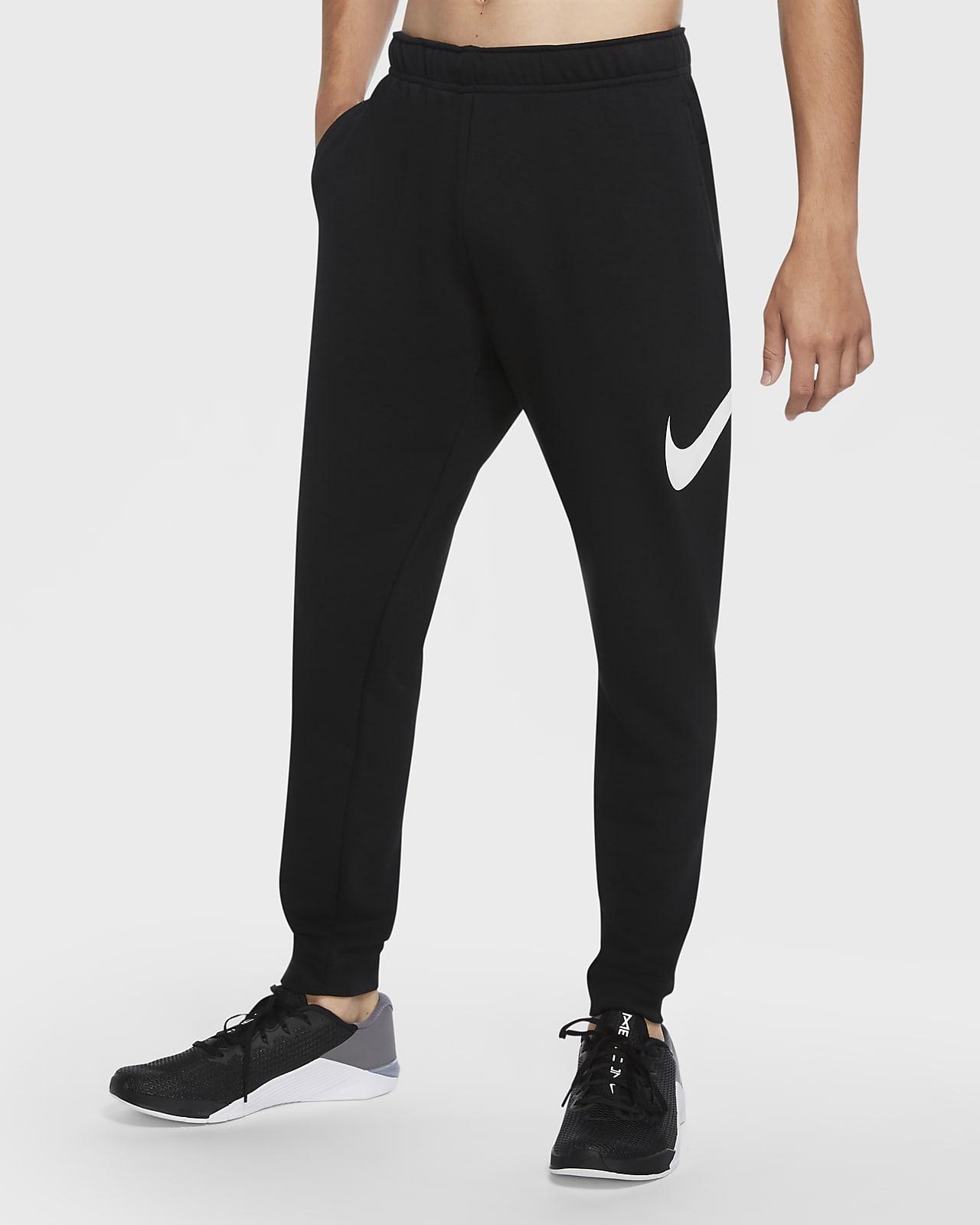 กางเกงเทรนนิ่งผู้ชายทรงขาเรียว Nike Dri-FIT