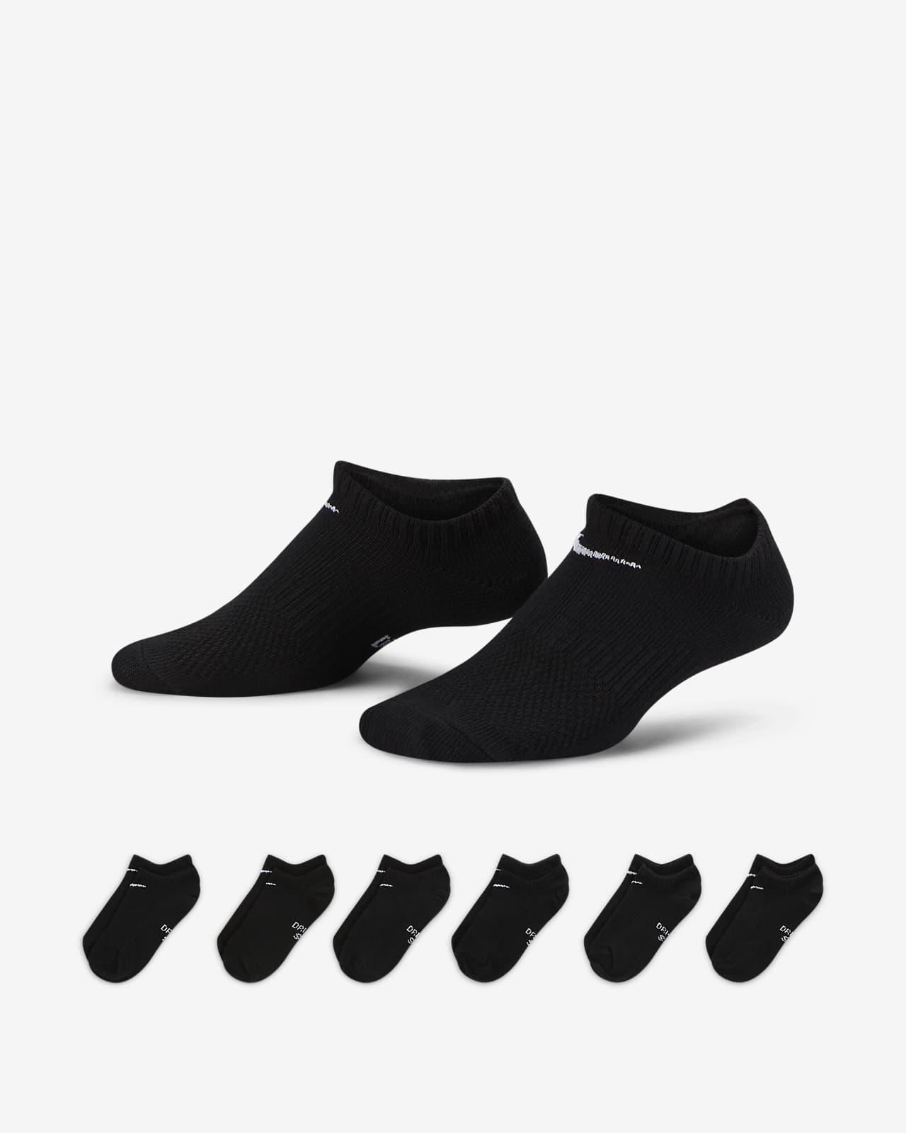Calcetines de entrenamiento para niños Nike Performance Lightweight No-Show (6 pares)
