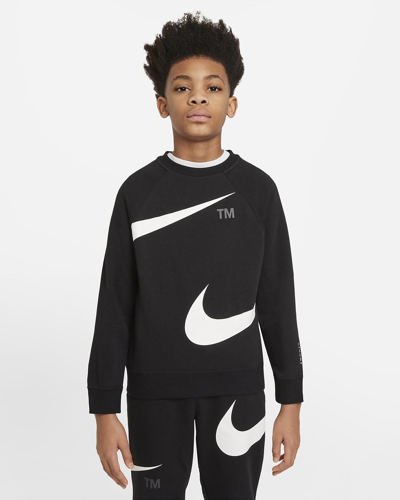 Nike Sportswear Swoosh-sweatshirt til større børn (drenge)