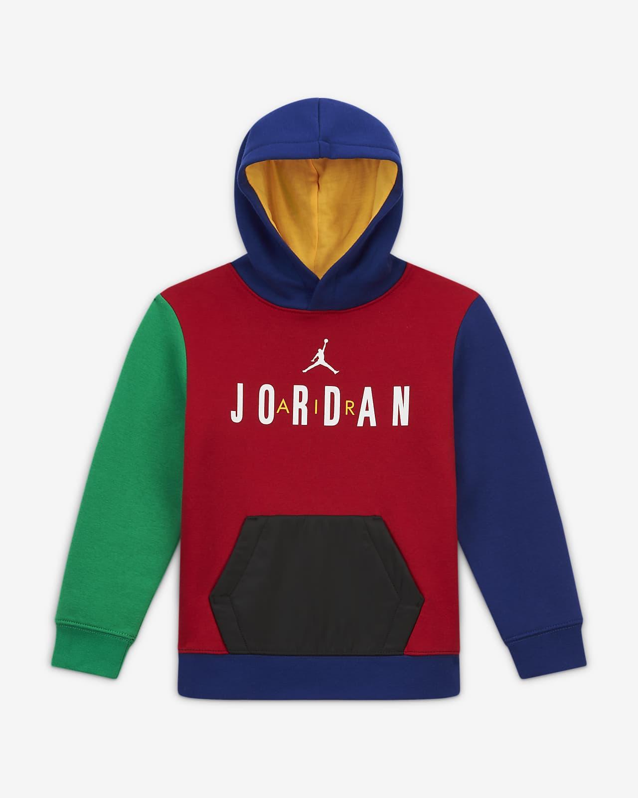 Mikina zbarevných dílů skapucí Jordan, pro malé děti