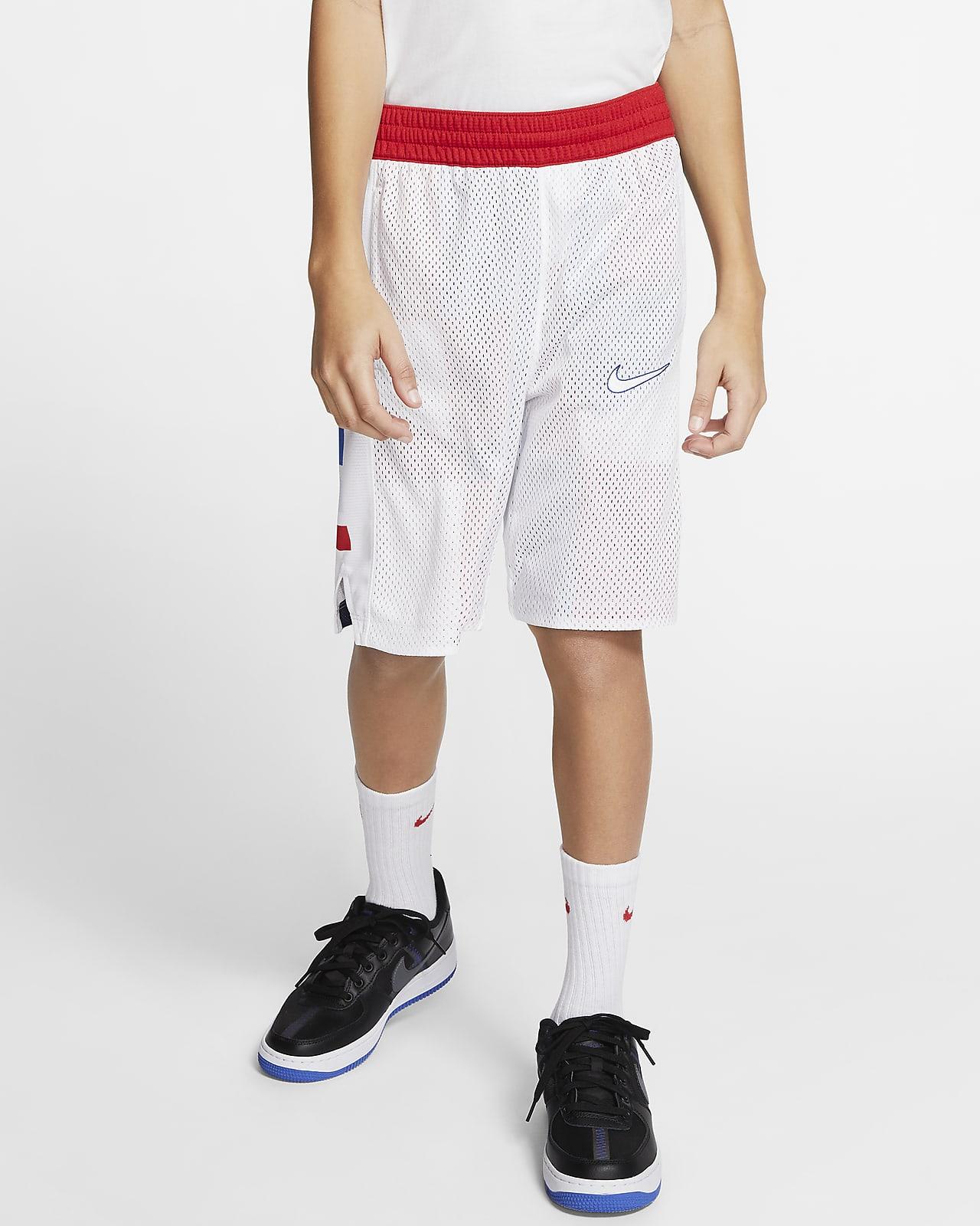 Shorts reversibles de básquetbol para niño talla grande Nike Elite