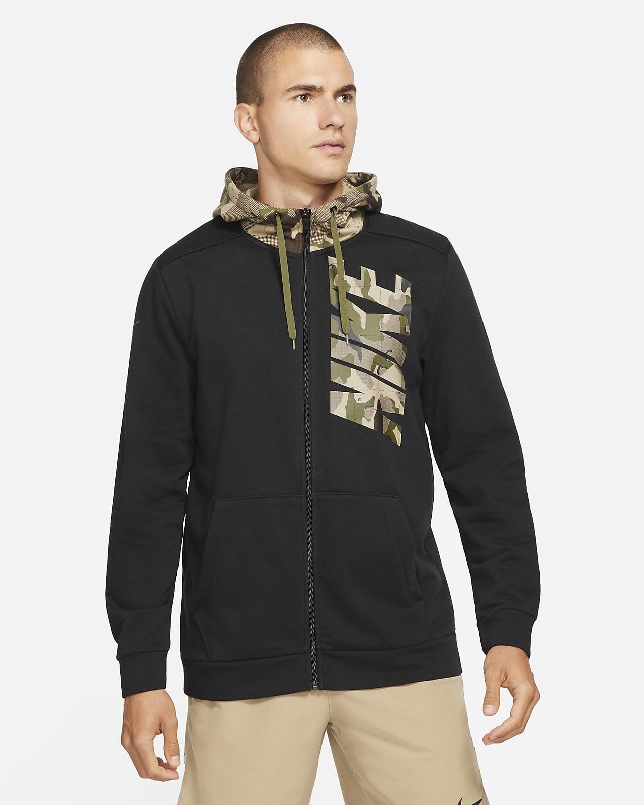 Nike Dri-FIT Men's Full-Zip Camo Training Hoodie