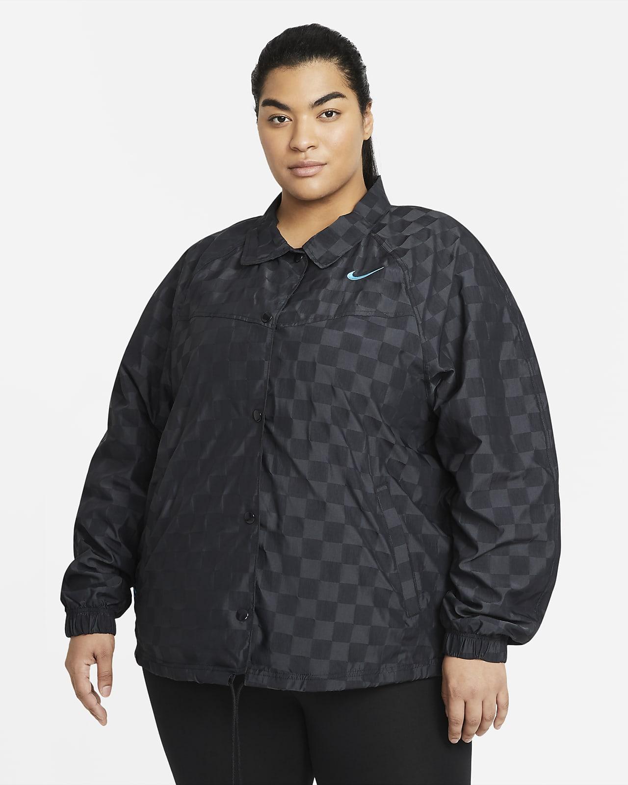 Chamarra de entrenador para mujer talla grande Nike Sportswear Icon Clash