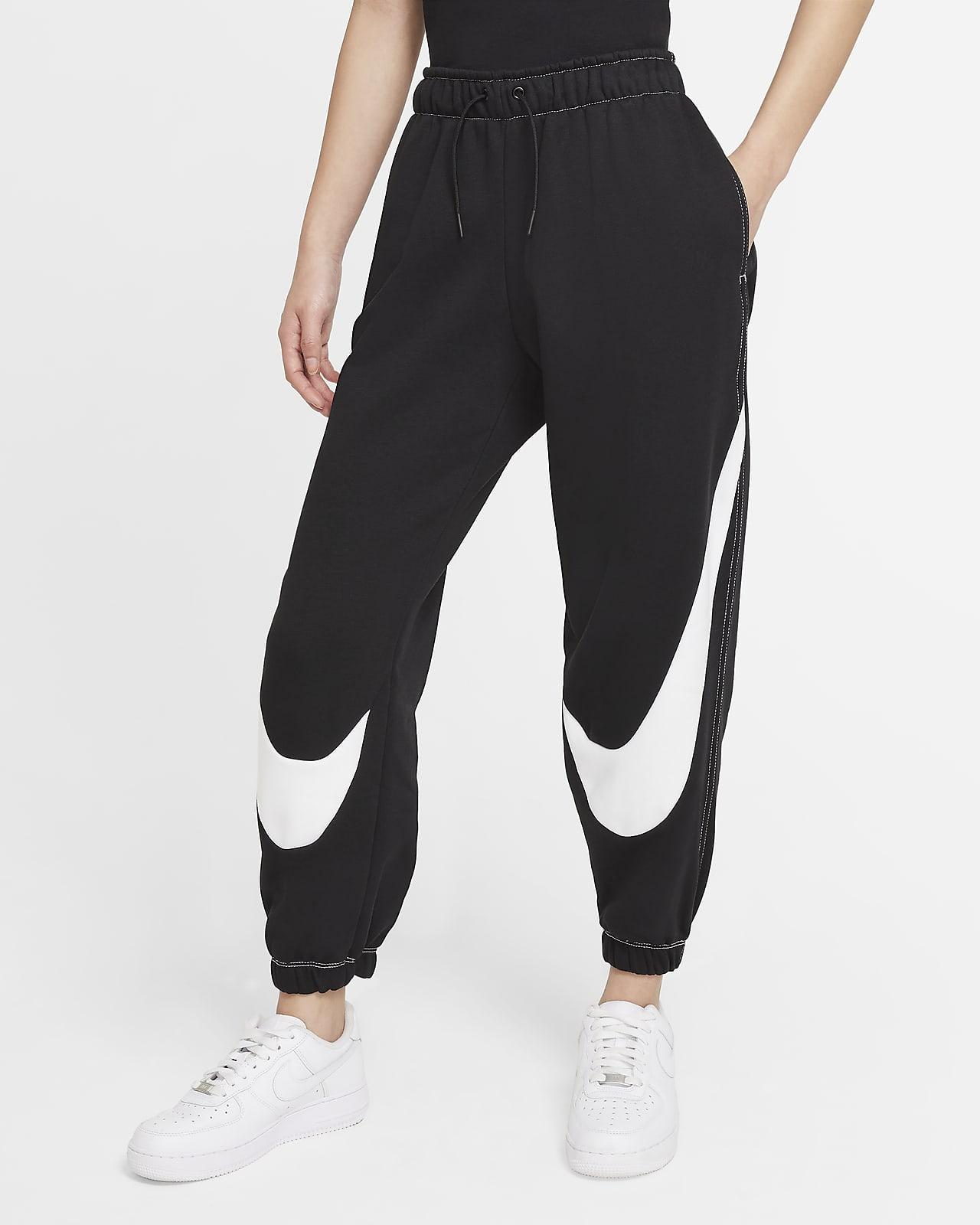 Nike Sportswear Swoosh 女款寬鬆 Fleece 慢跑長褲
