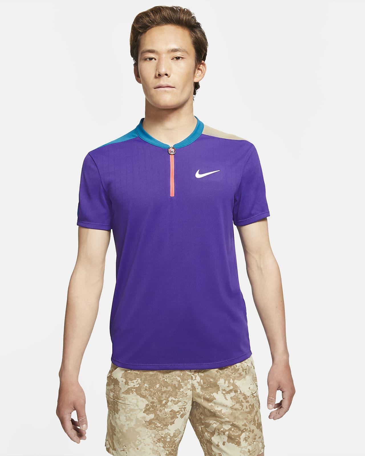 NikeCourt Breathe Slam 男款網球有領衫