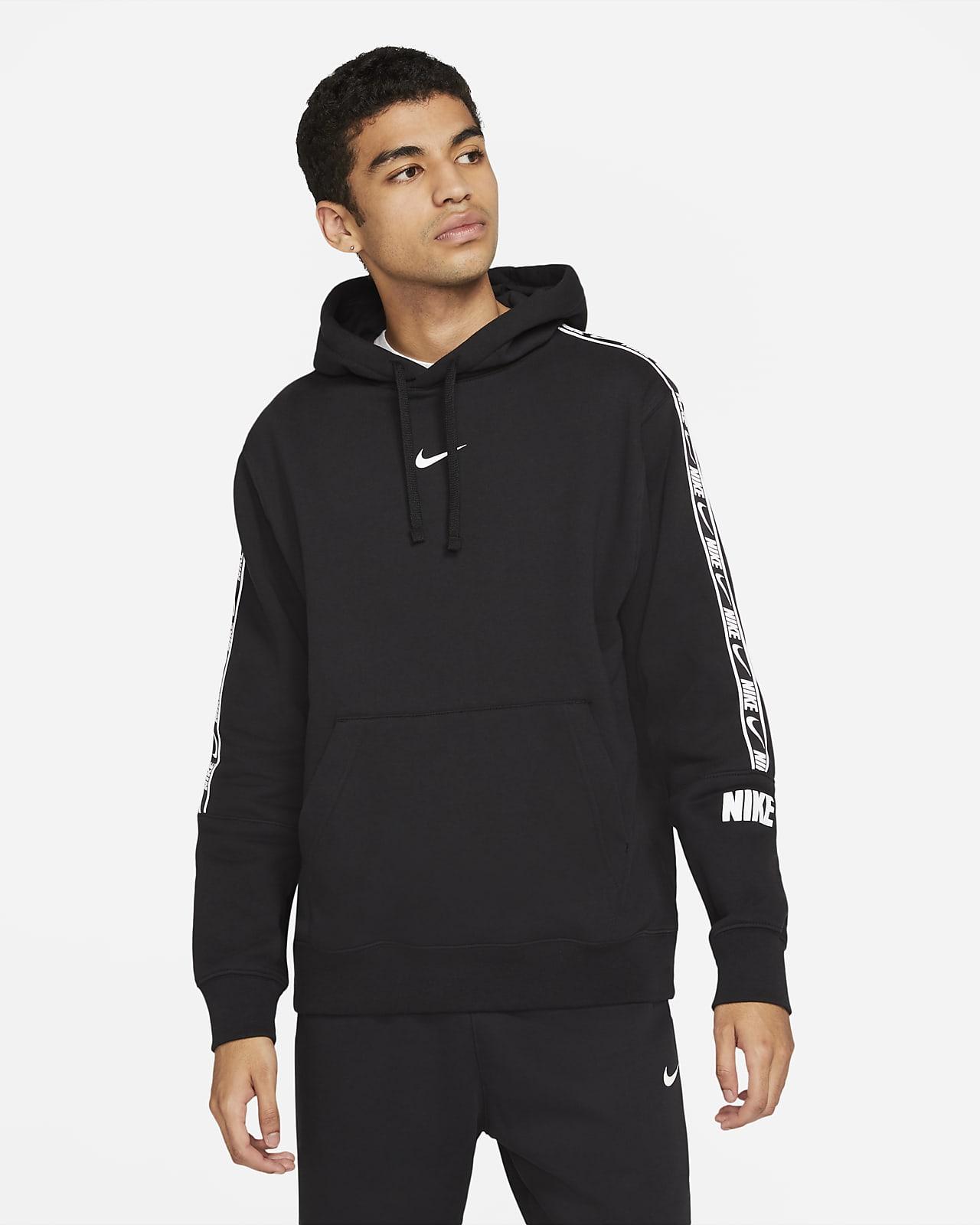 Nike Sportswear kapucnis, belebújós polár férfipulóver