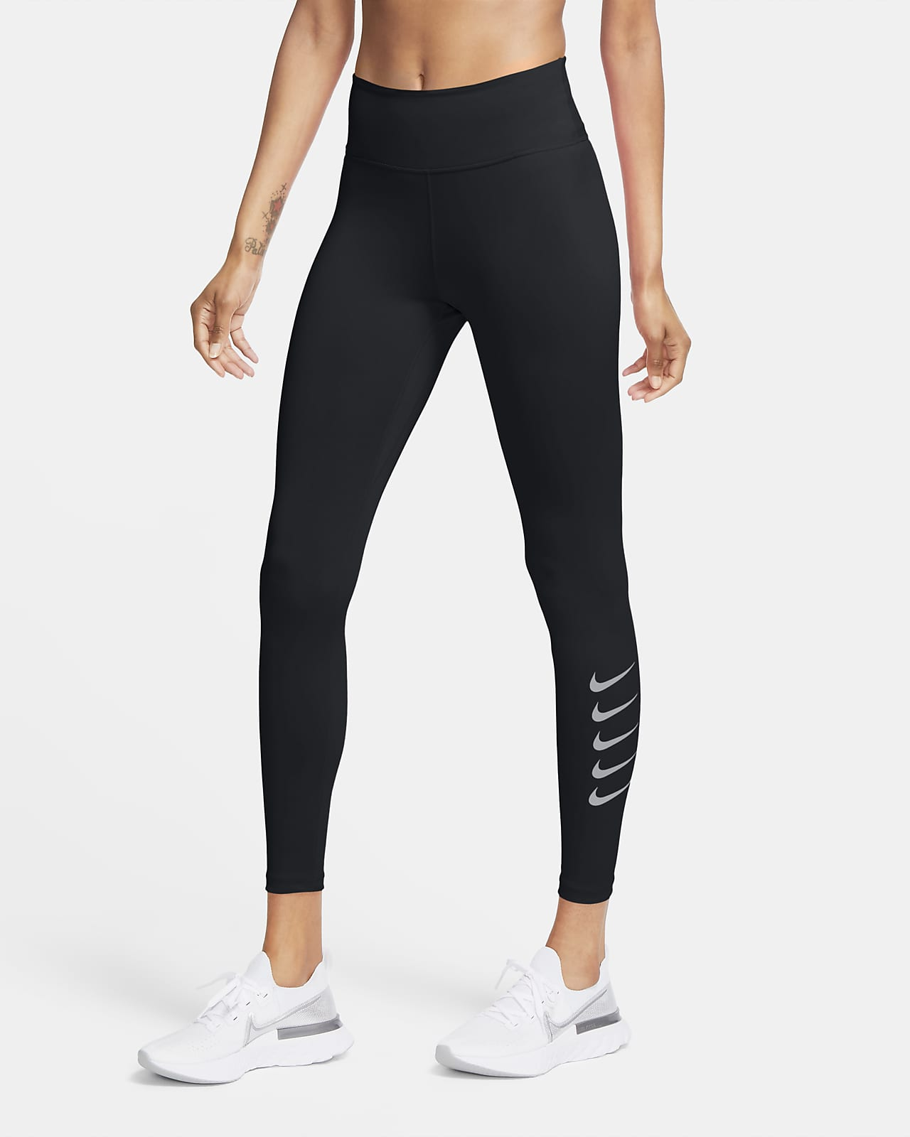 Tights da running a 7/8 Nike Swoosh Run - Donna