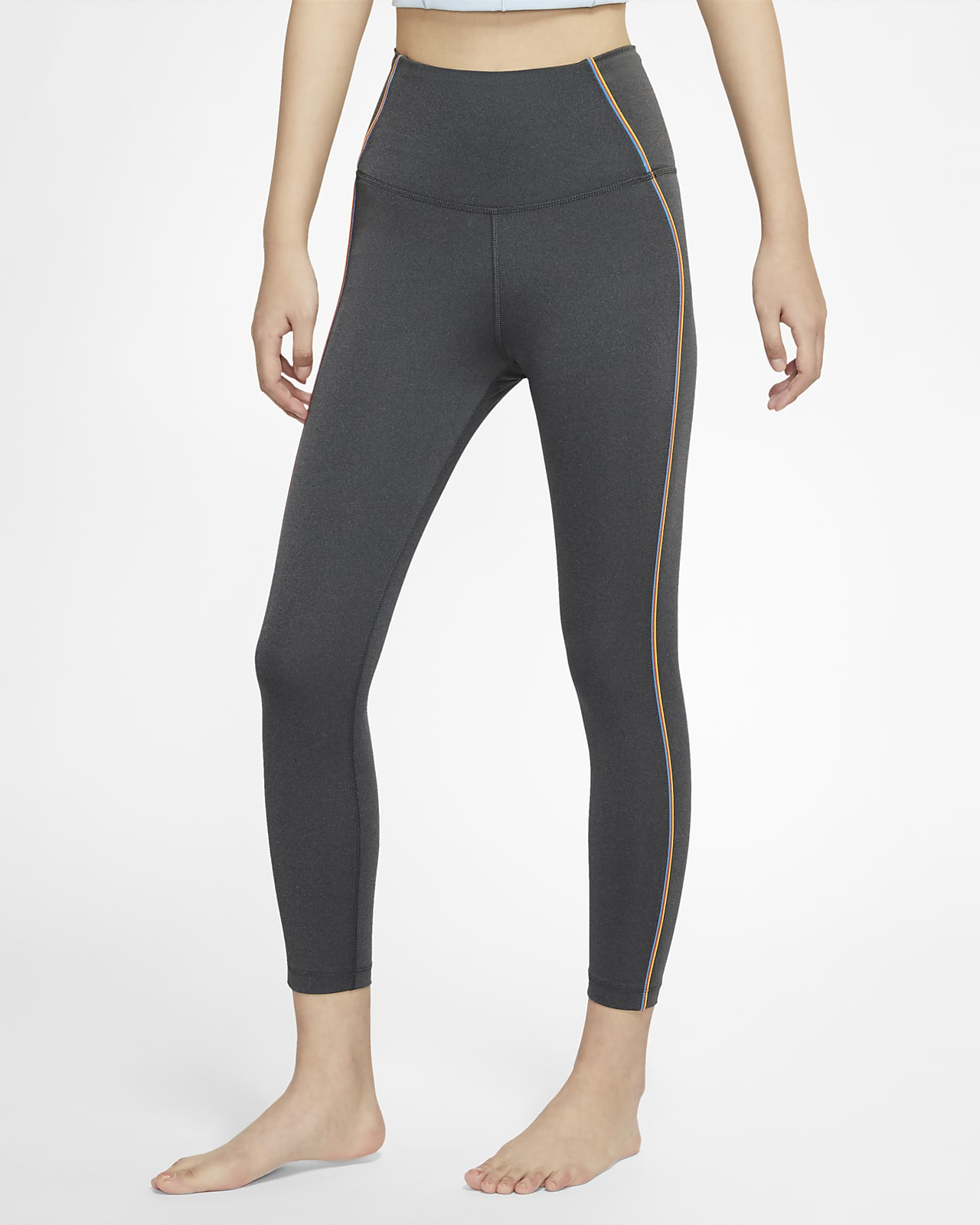 กางเกงรัดรูปผู้หญิง 7 ส่วน Nike Yoga