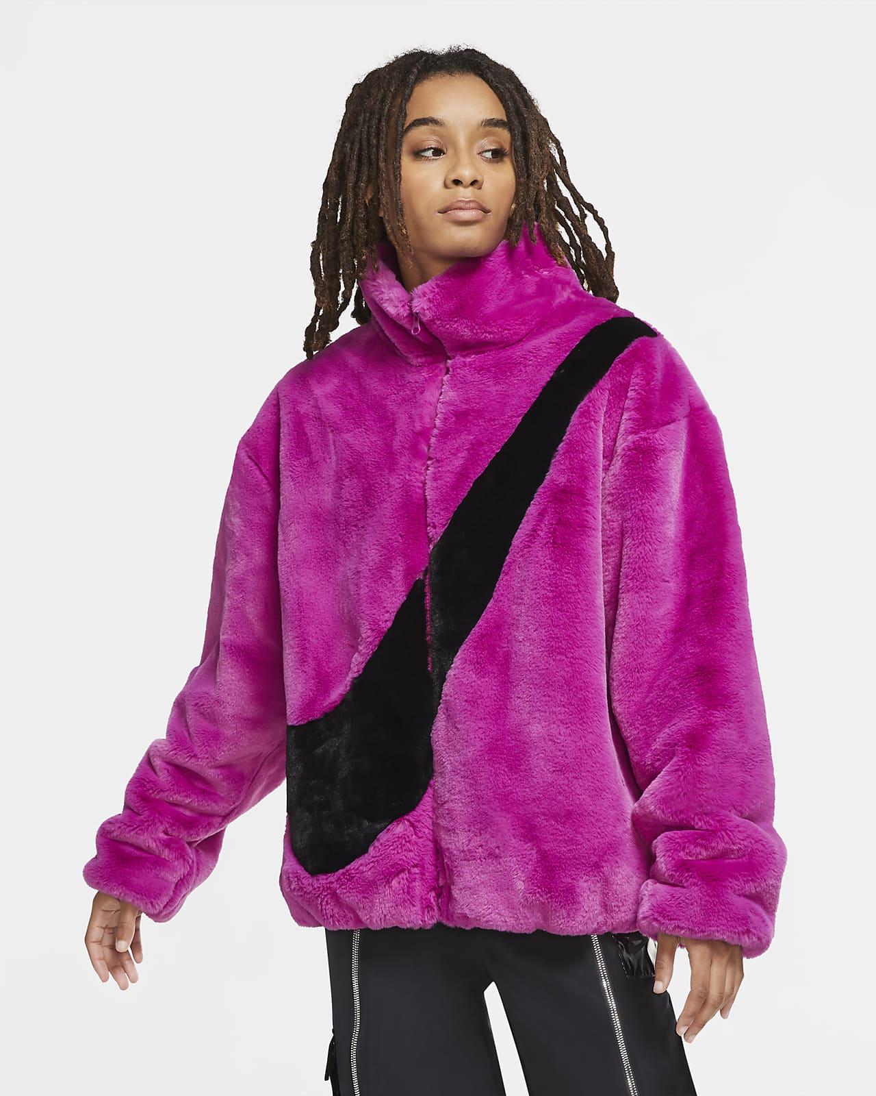เสื้อแจ็คเก็ตขนสัตว์สังเคราะห์ผู้หญิง Nike Sportswear