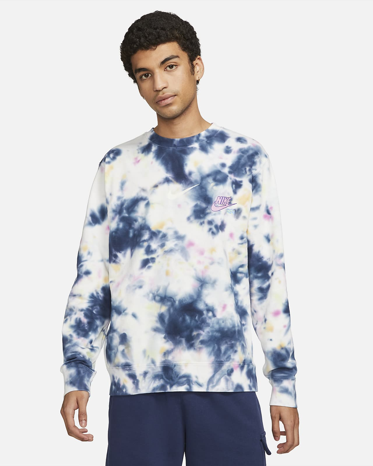 Sudadera de French Terry tie-dye para hombre Nike Sportswear Club
