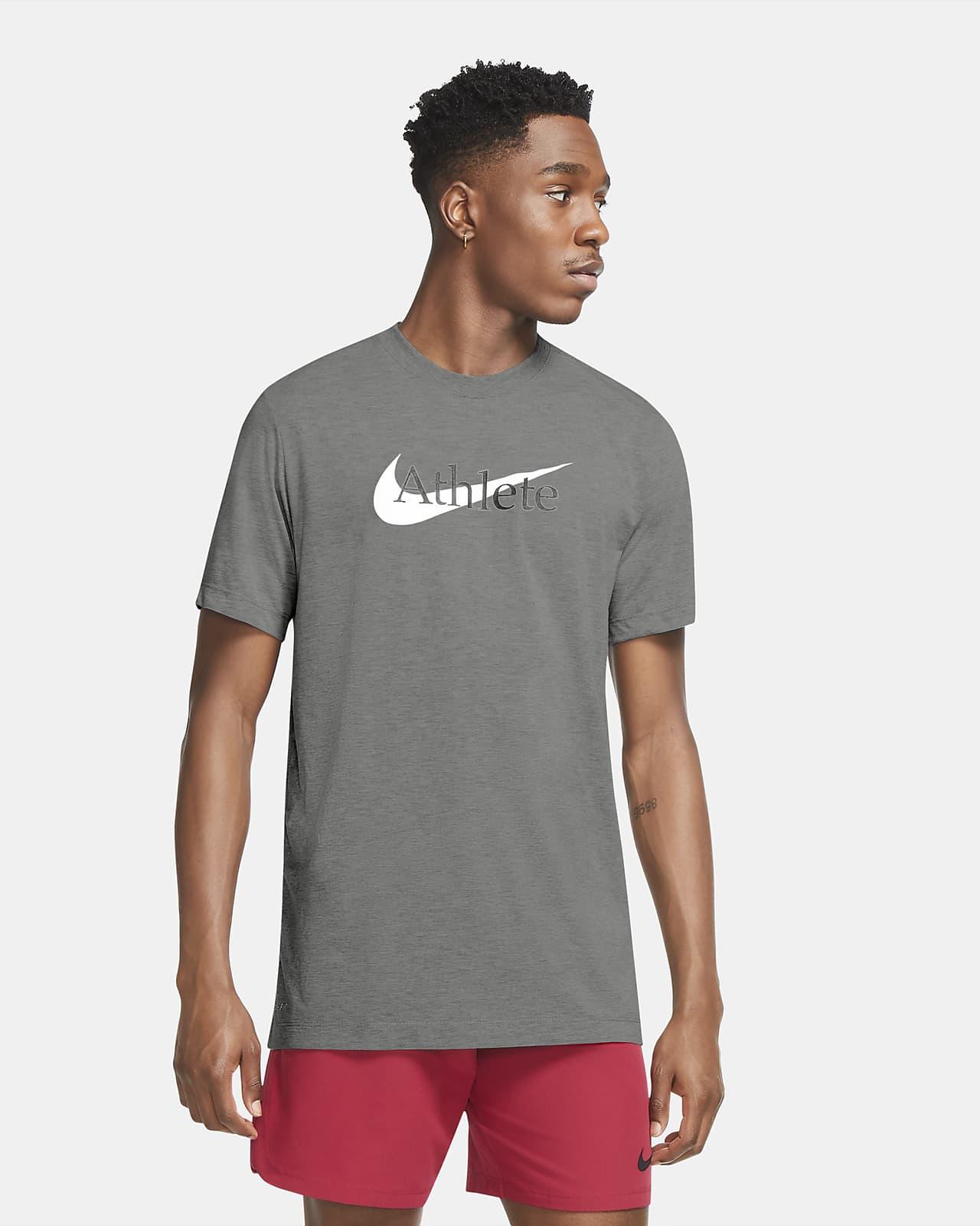 Ανδρικό T-Shirt προπόνησης Nike Dri-FIT με Swoosh