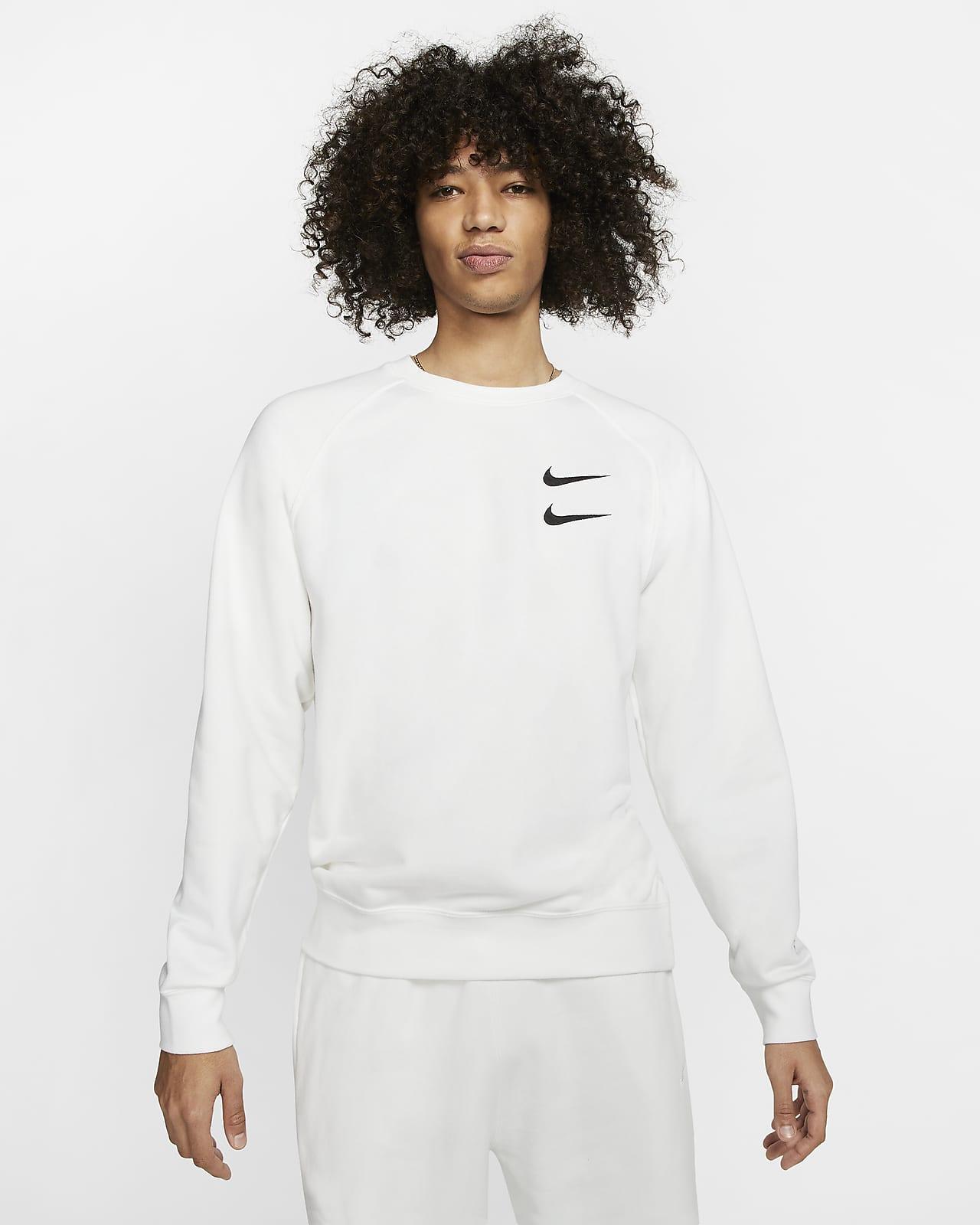 Nike Sportswear Swoosh Herren-Rundhalsshirt aus French-Terry