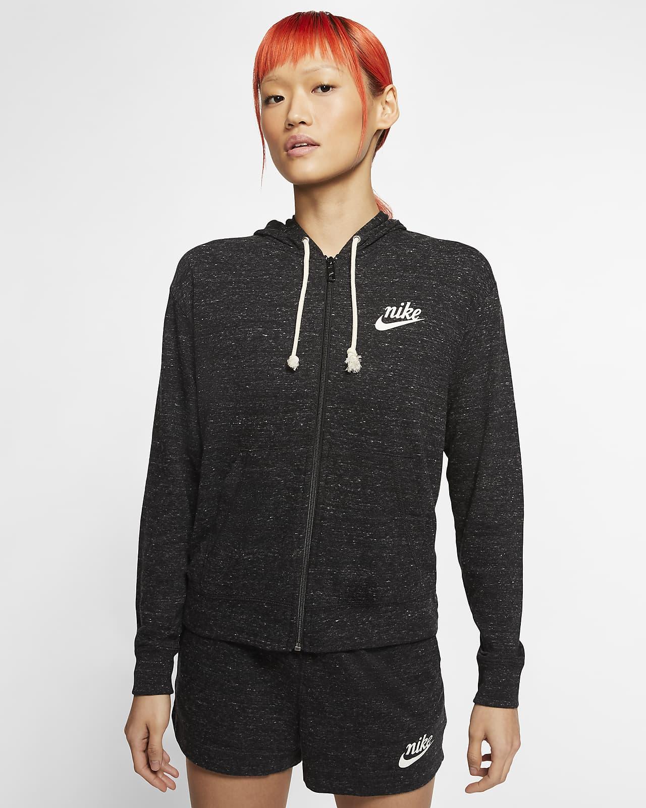 Sudadera con gorro de cierre completo para mujer Nike Sportswear Gym Vintage