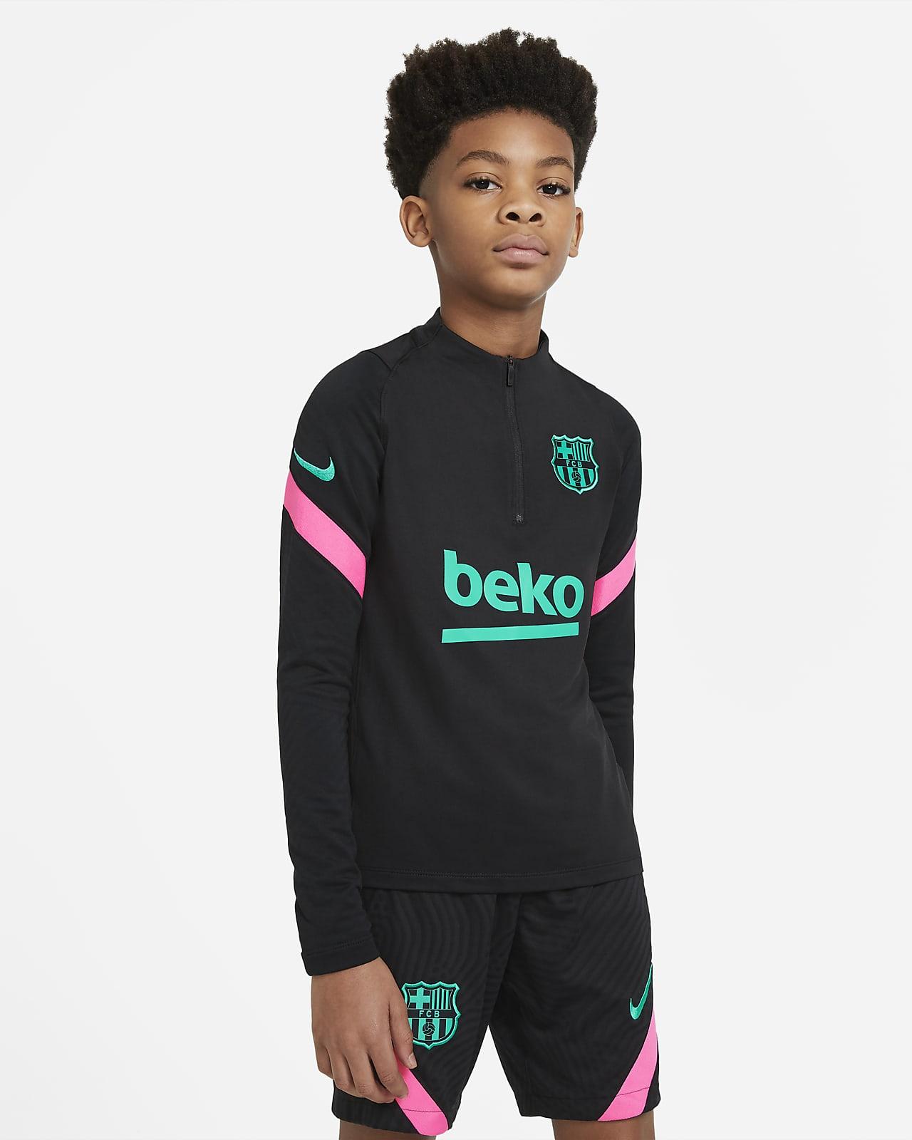 FC Barcelona Strike Older Kids' Football Drill Top