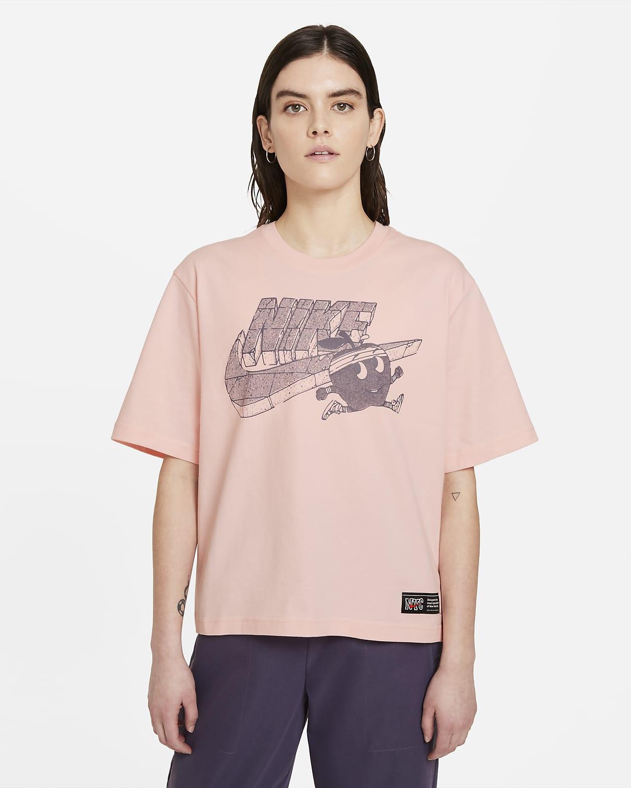 Playera cuadrada para mujer Nike Sportswear