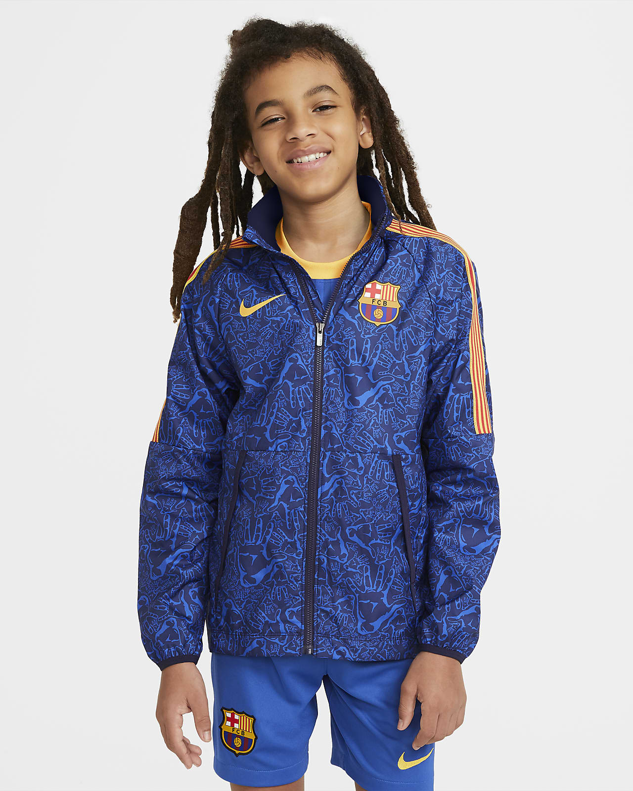 Fotbollsjacka FC Barcelona AWF för ungdom