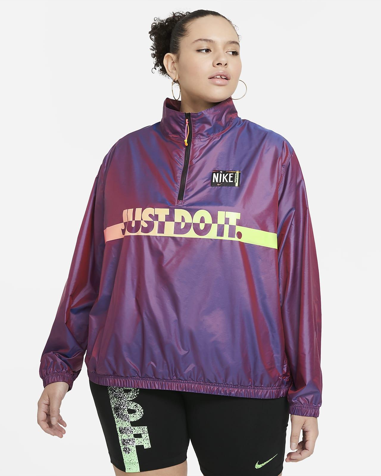 Nike Sportswear Geweven damesjack (Plus Size)