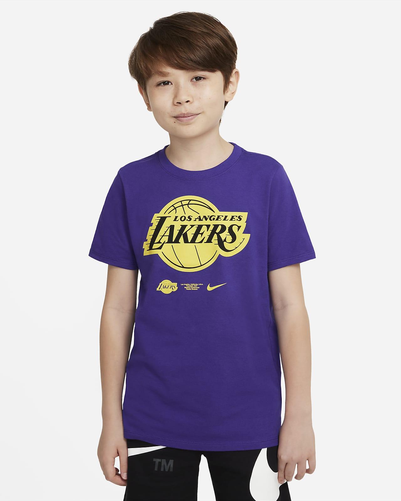 Los Angeles Lakers Older Kids' Nike Dri-FIT NBA T-Shirt. Nike LU