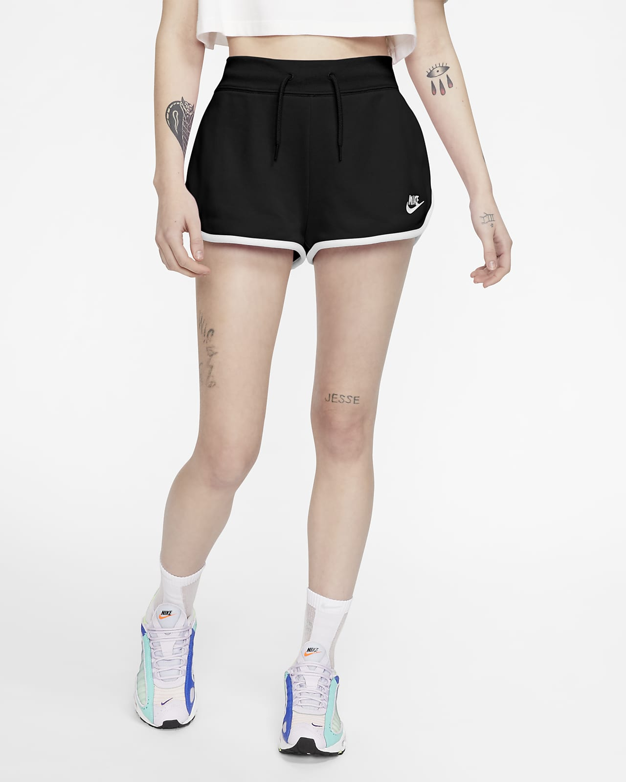Nike Sportswear Heritage Fleece-Shorts für Damen