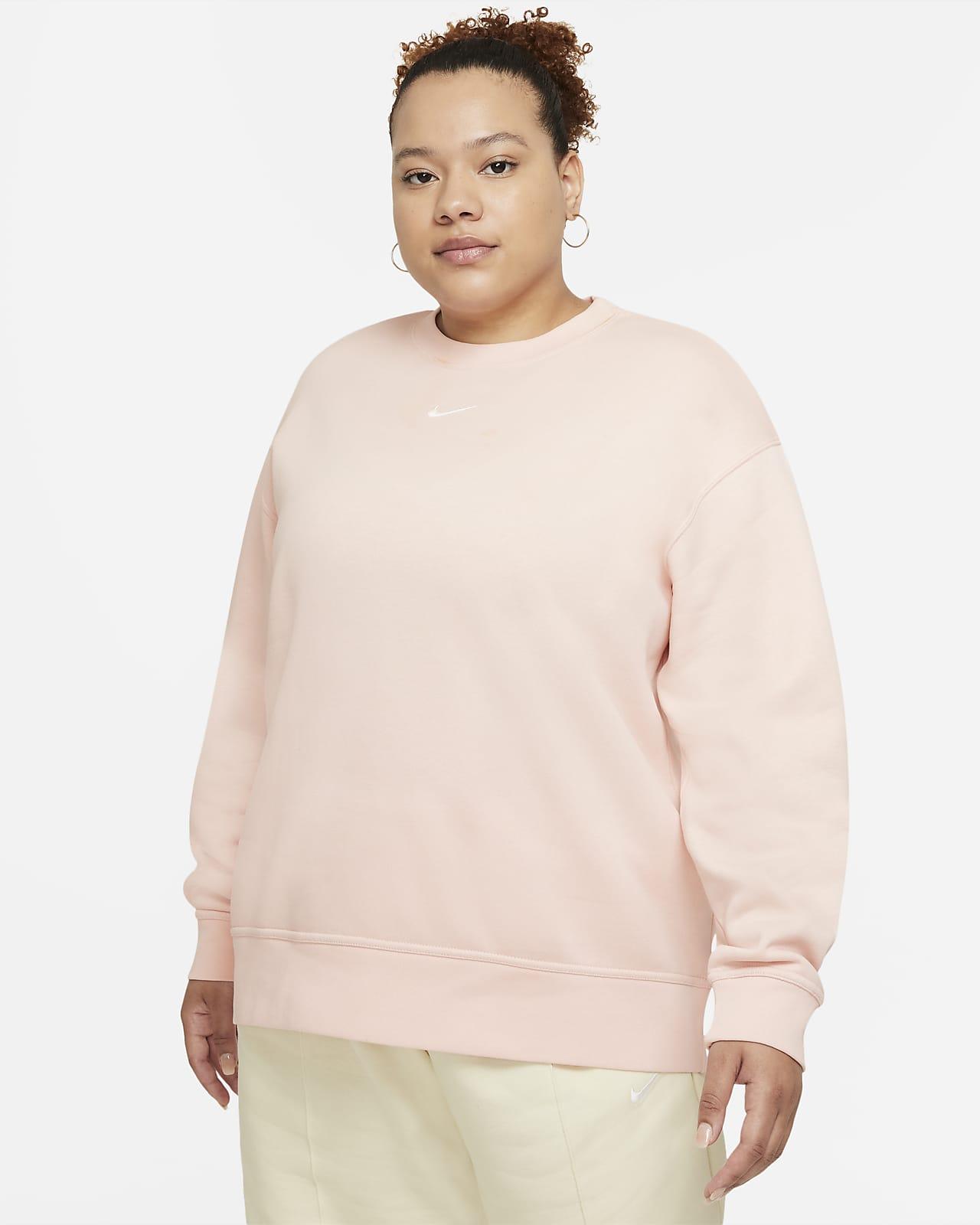 Nike Sportswear Collection Essentials Women's Fleece Crew (Plus Size)