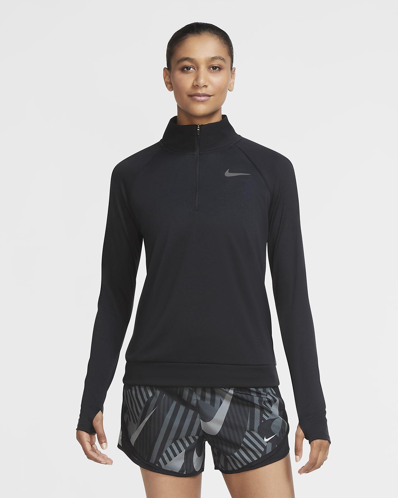 Löpartröja Nike Pacer med kvartslång dragkedja för kvinnor