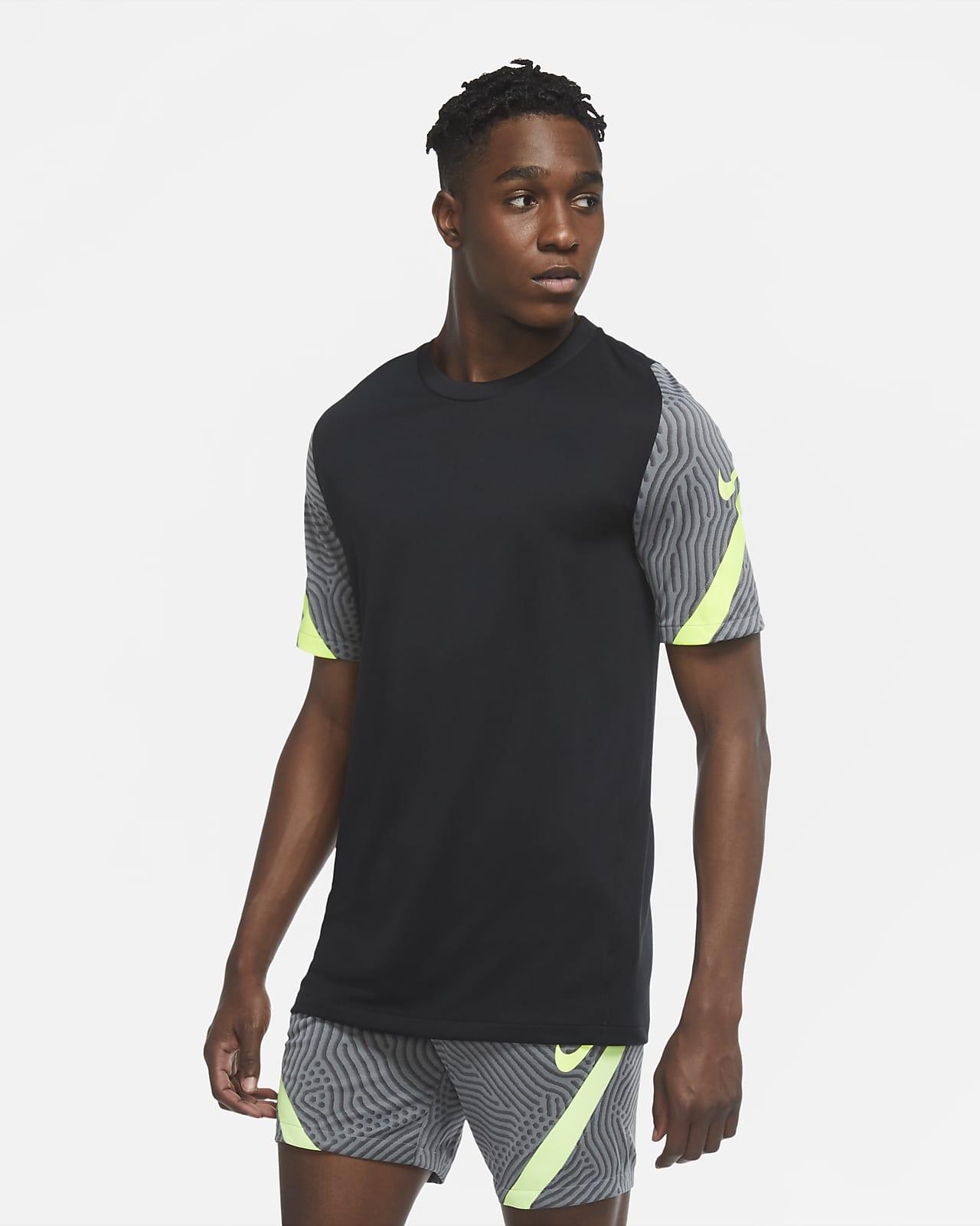 Nike Dri-FIT Strike-fodboldoverdel med korte ærmer til mænd