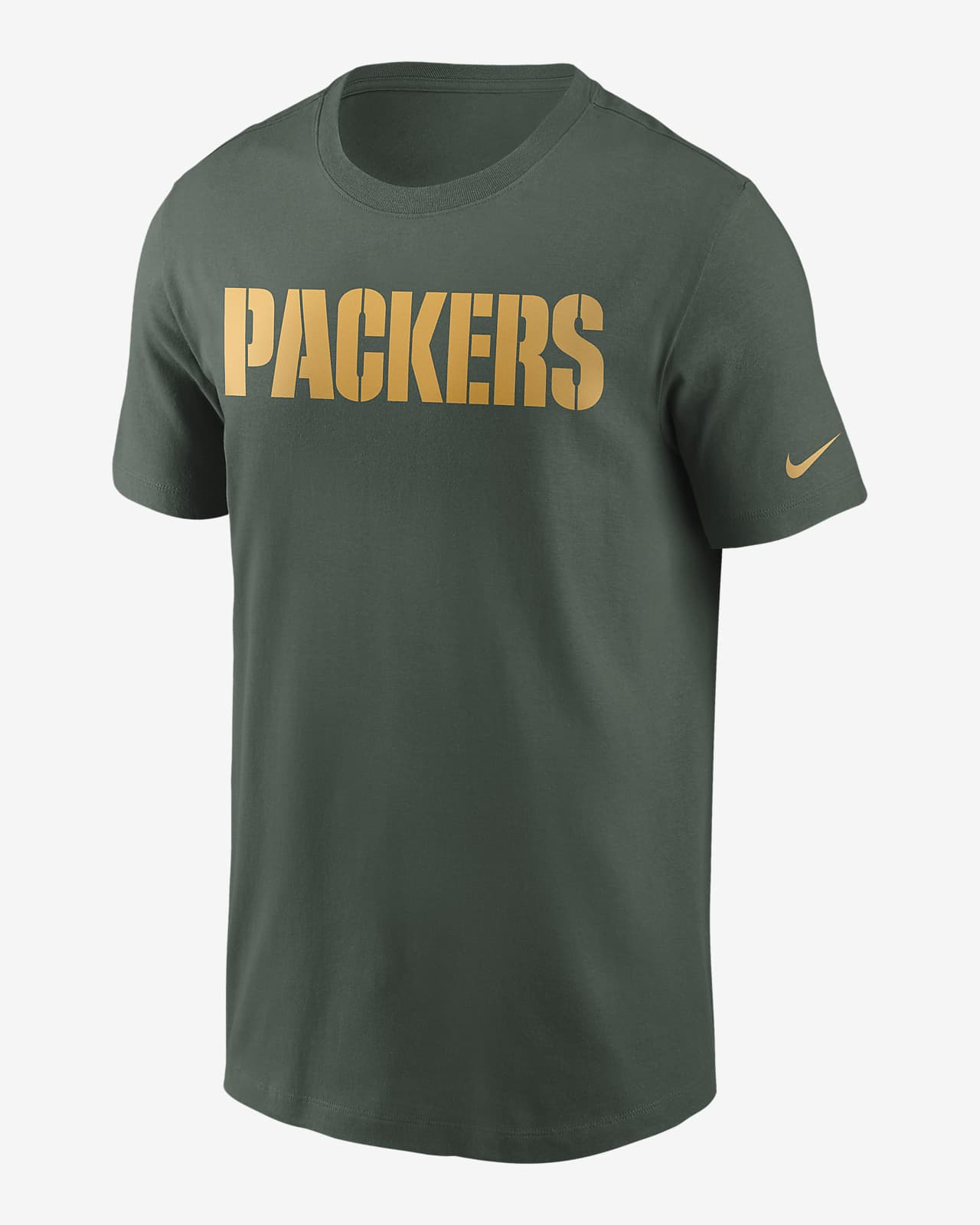 Nike Mens T-Shirts Dri-Fit NFL Green Bay Packers Short Sleeve Crew Neck T-Shirt