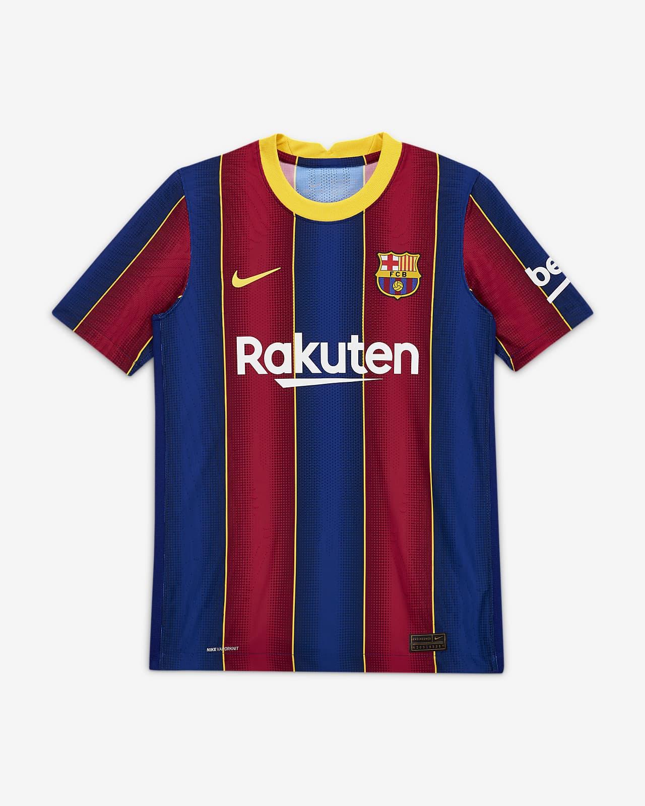 Piłkarska koszulka dla dużych dzieci FC Barcelona Vapor Match 2020/21 (wersja domowa)
