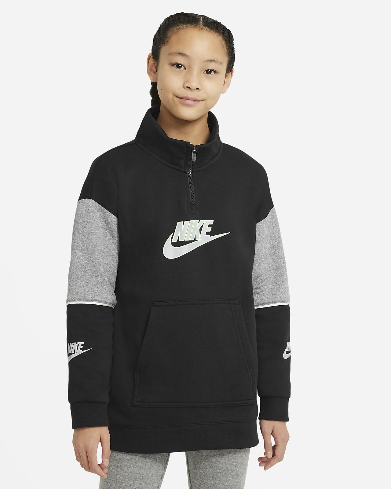 Nike Sportswear Older Kids' (Girls') 1/2-Zip Pullover Top