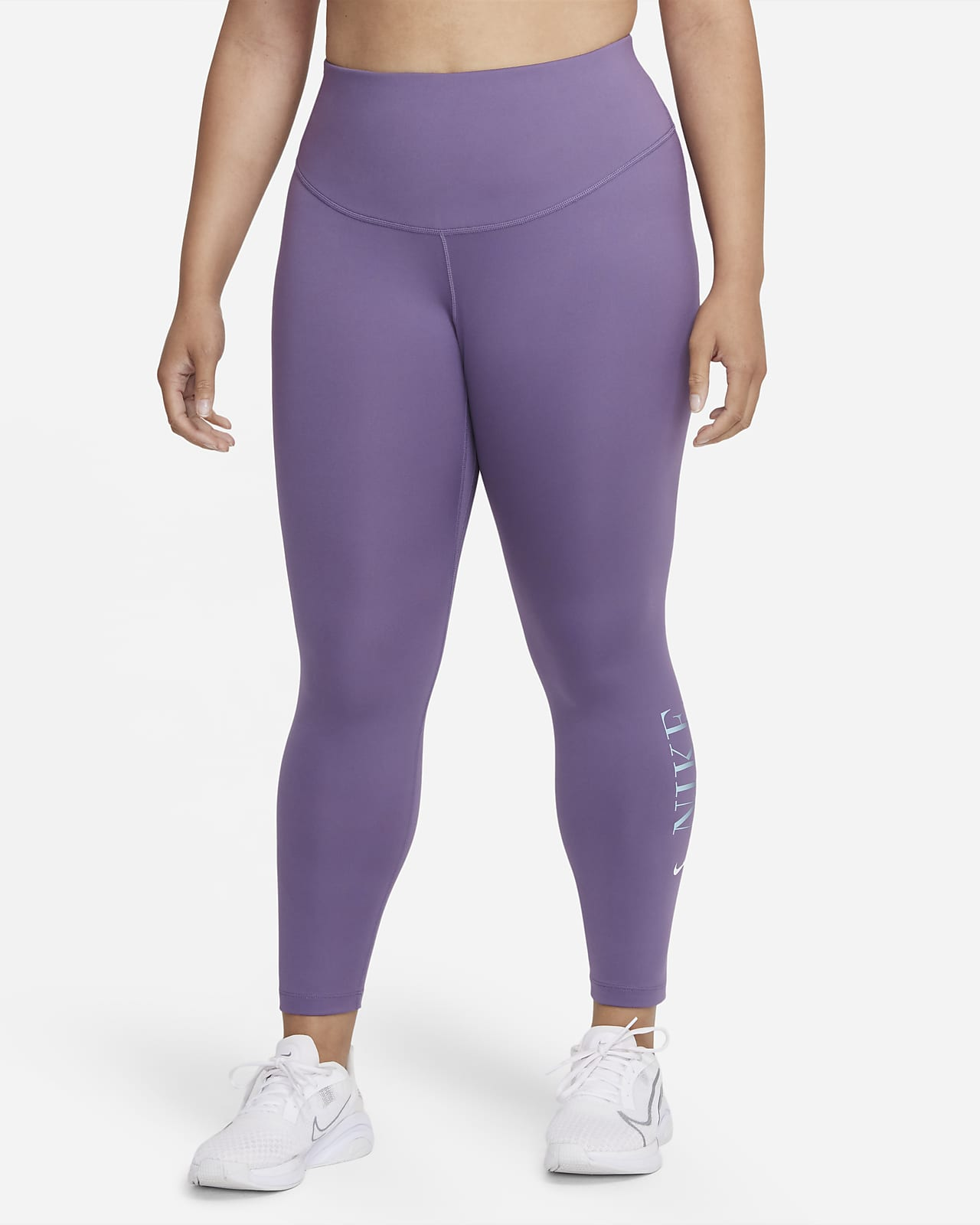 Nike Dri-FIT One Women's Mid-Rise 7/8 Graphic Leggings (Plus Size)