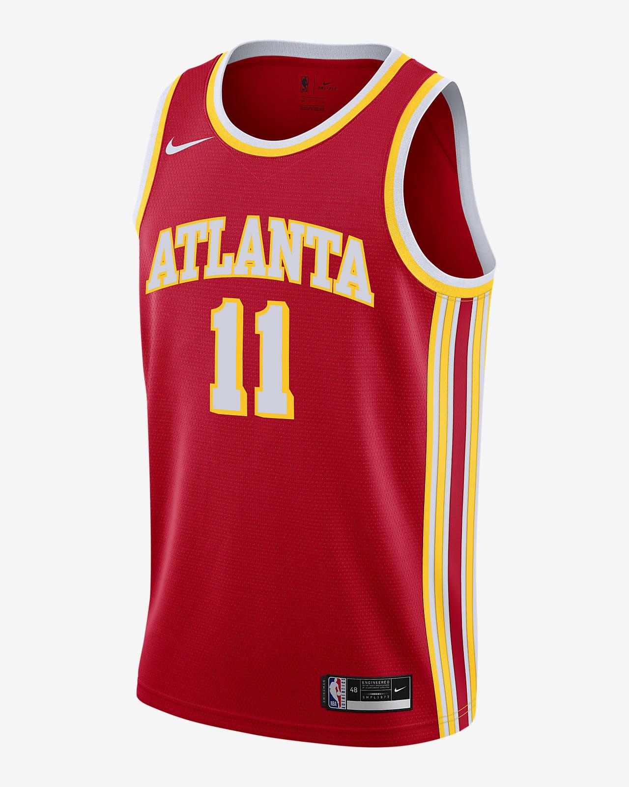 Trae Young Hawks Icon Edition 2020 Nike NBA Swingman Trikot. Nike DE