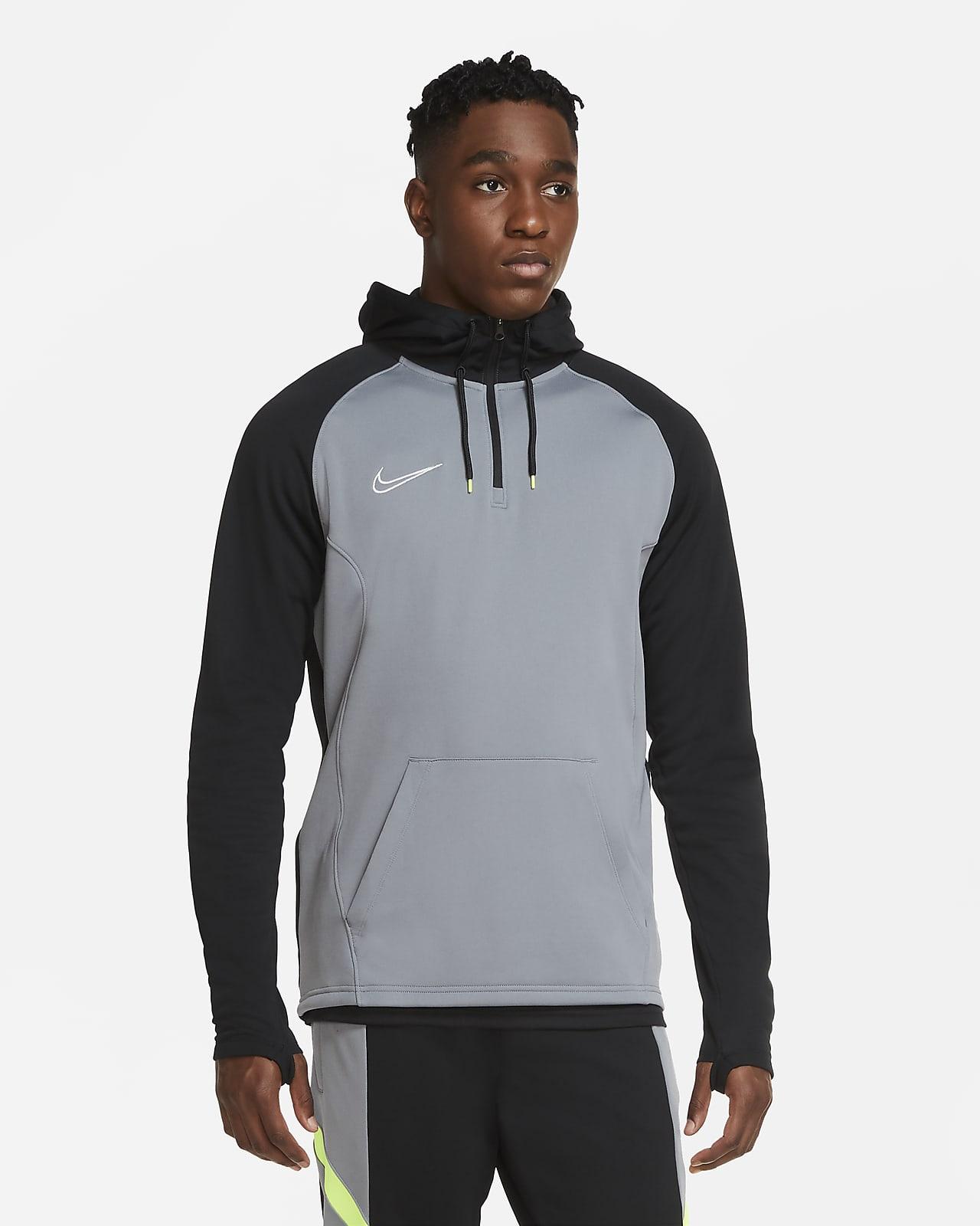 Nike Dri-FIT Academy Voetbaltrainingshoodie met korte rits voor heren