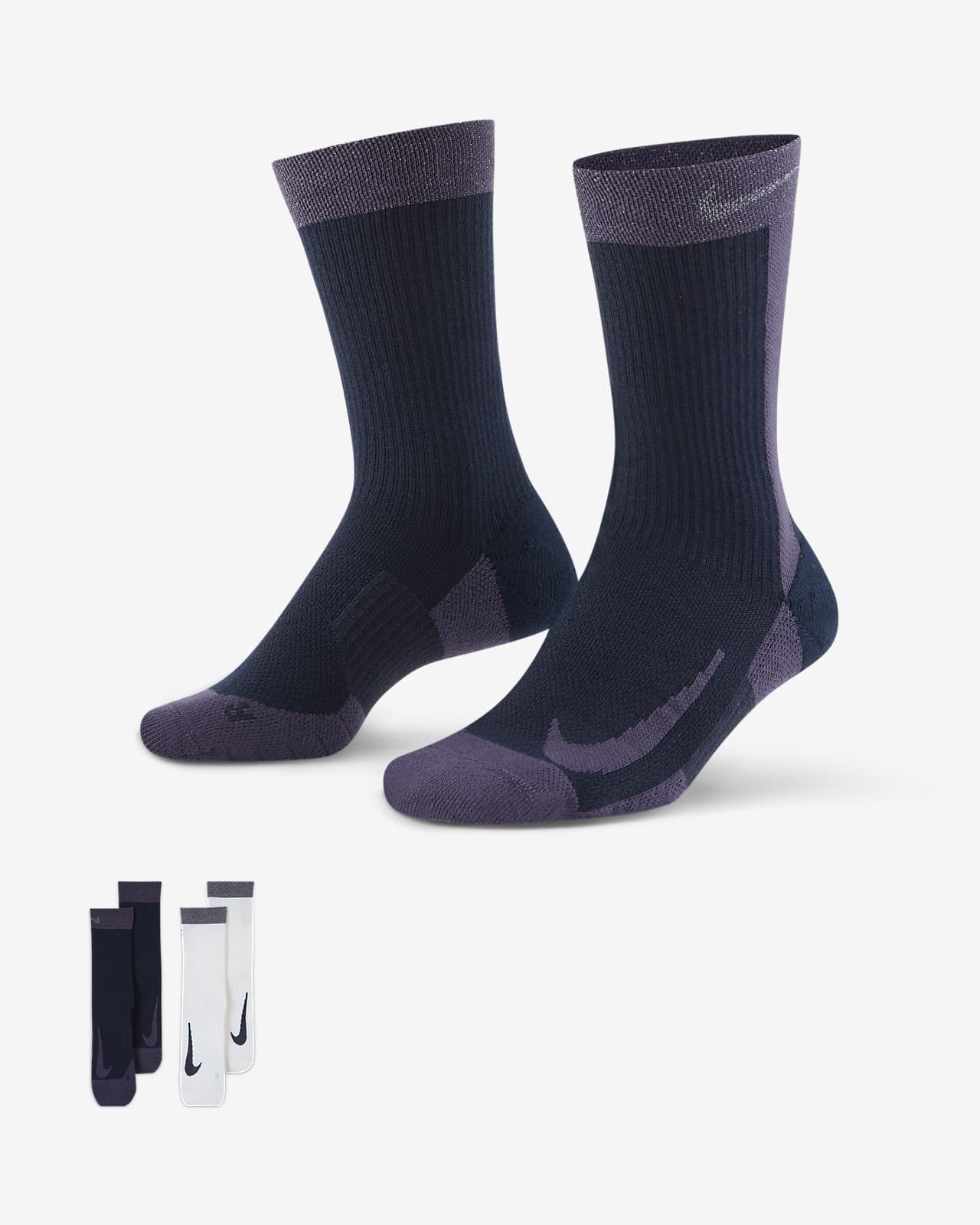 NikeCourt Multiplier Max Tennis Crew Socks (2 Pairs)
