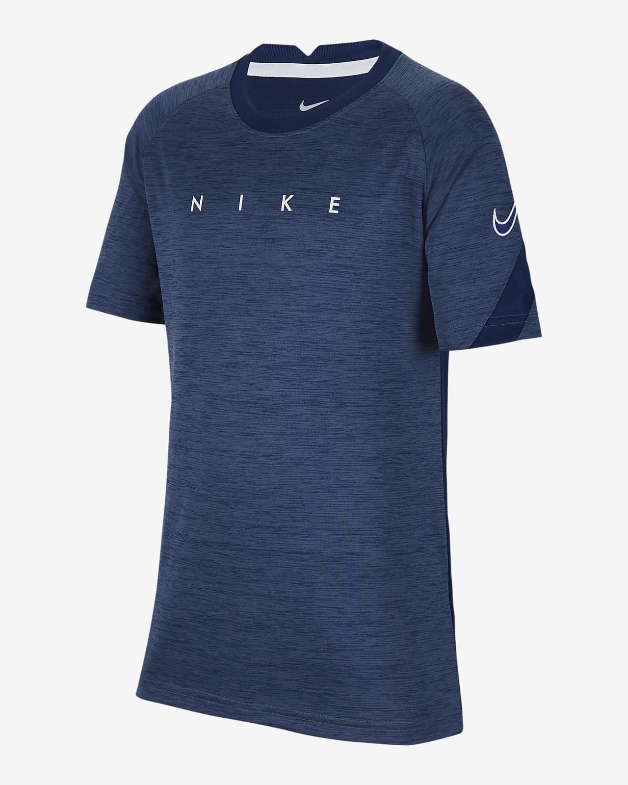 Nike Dri-FIT Academy 大童(男孩)短袖印花足球上衣