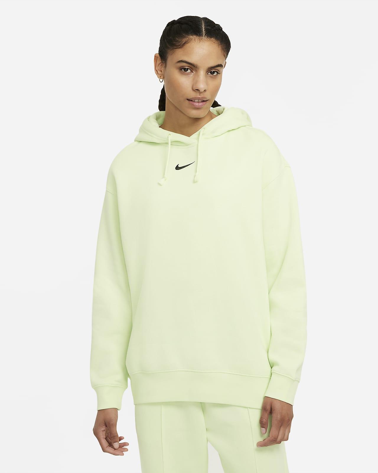 Nike Sportswear Essential Collection Sudadera con capucha de tejido Fleece oversize - Mujer