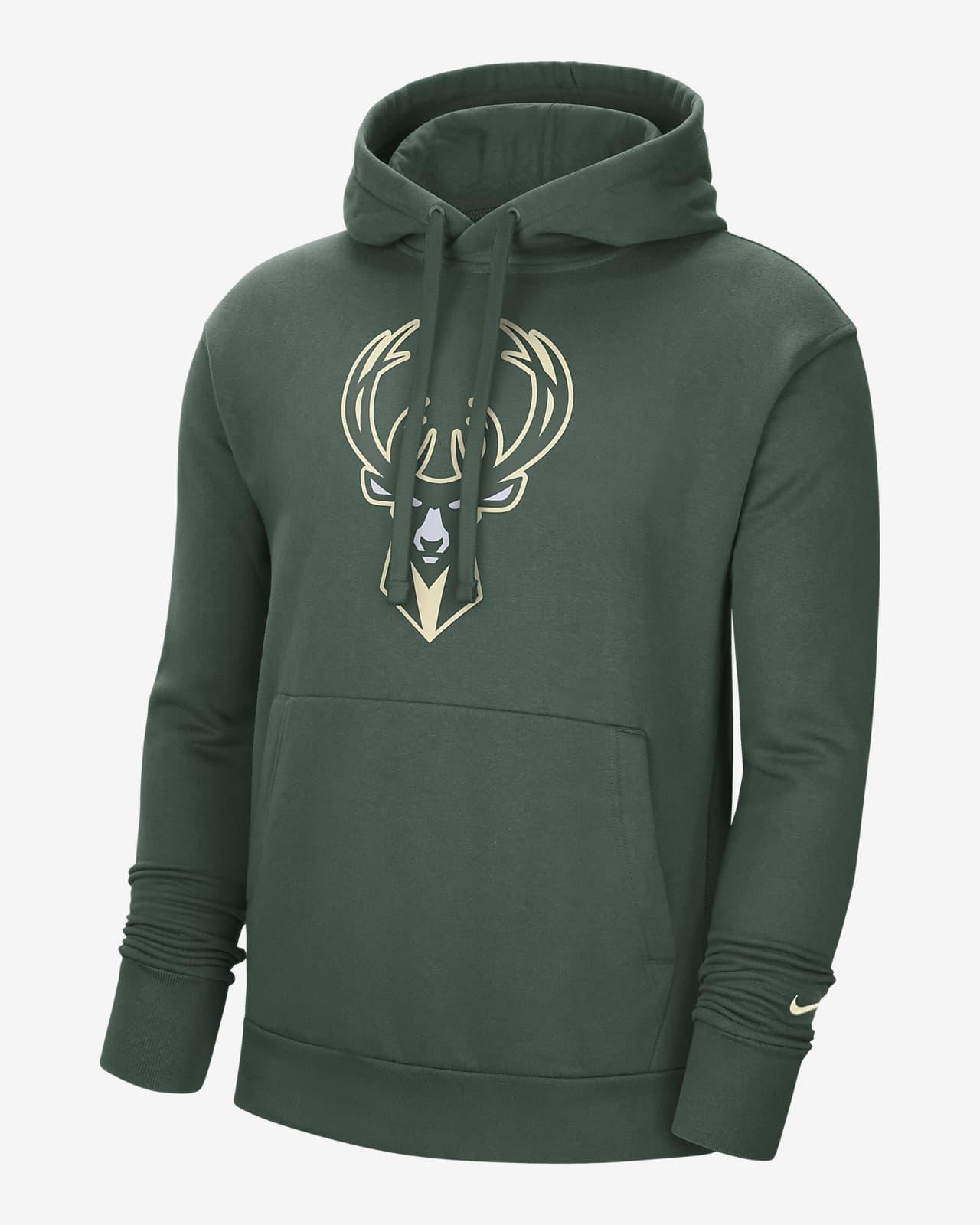 Sweat à capuche Nike NBA Milwaukee Bucks Essential pour Homme