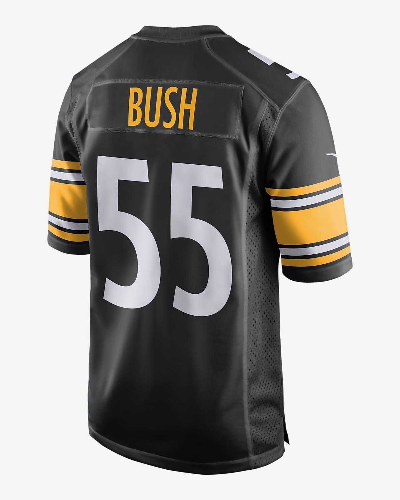 NFL Pittsburgh Steelers (Devin Bush) Men's Game Football Jersey