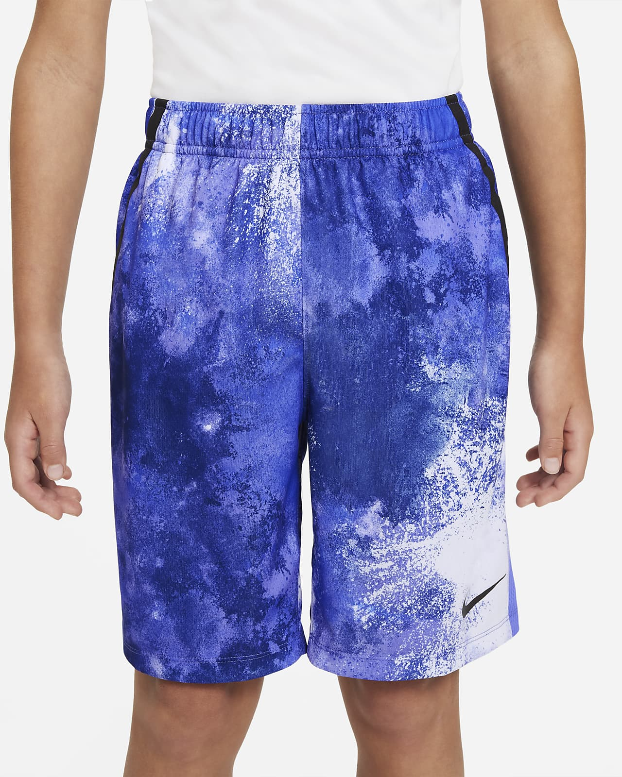 Short de training tie-dye Nike Dri-FIT pour Garçon plus âgé