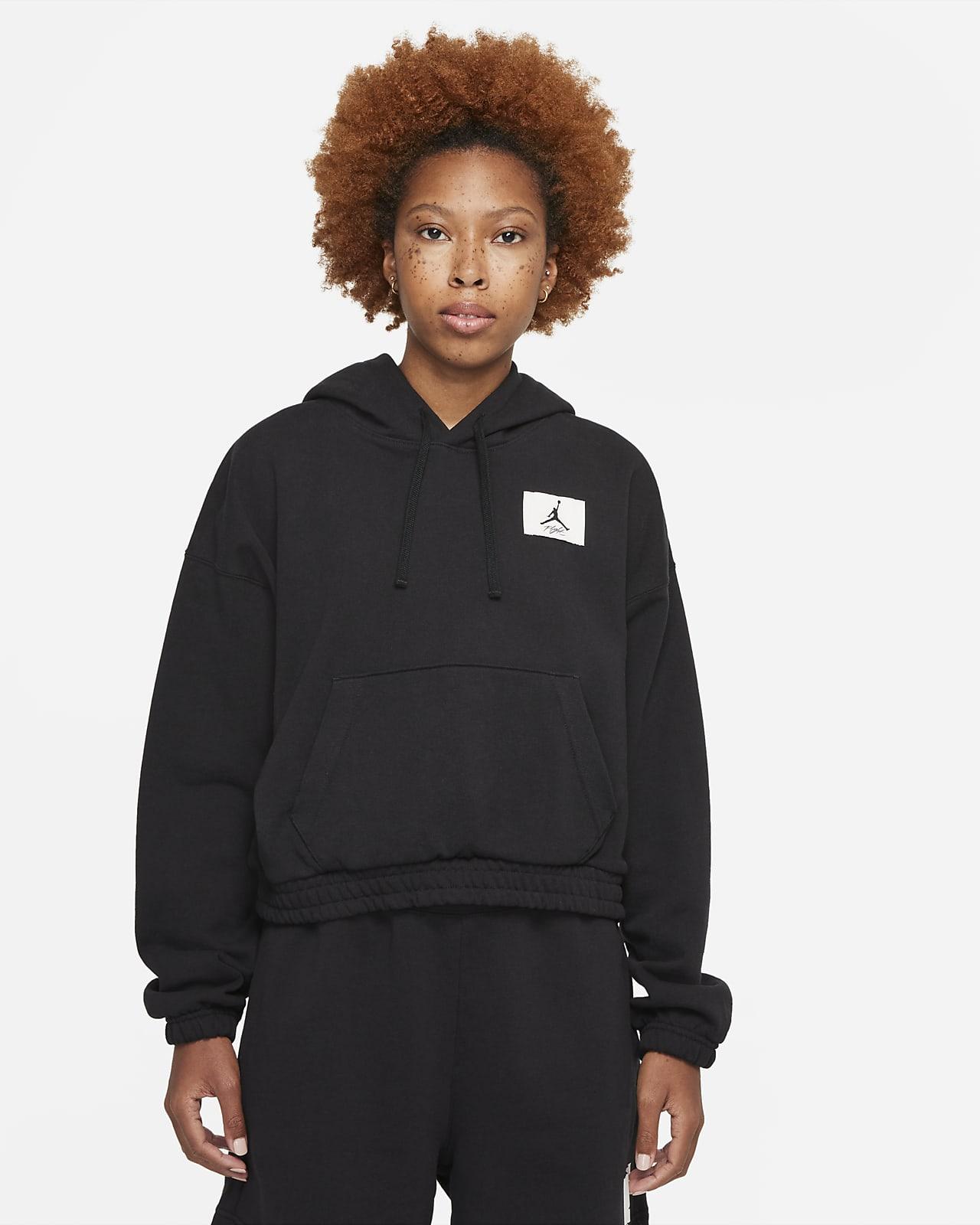 Sweat à capuche en tissu Fleece Jordan Essentials pour Femme