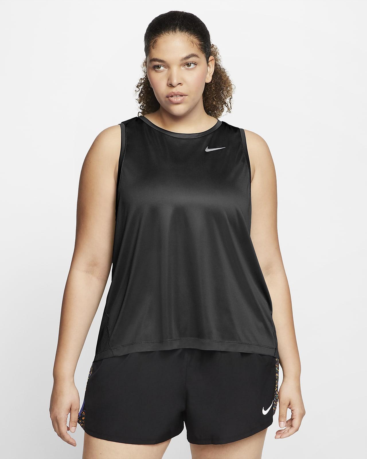 Nike Miler Hardlooptanktop voor dames (grote maten)