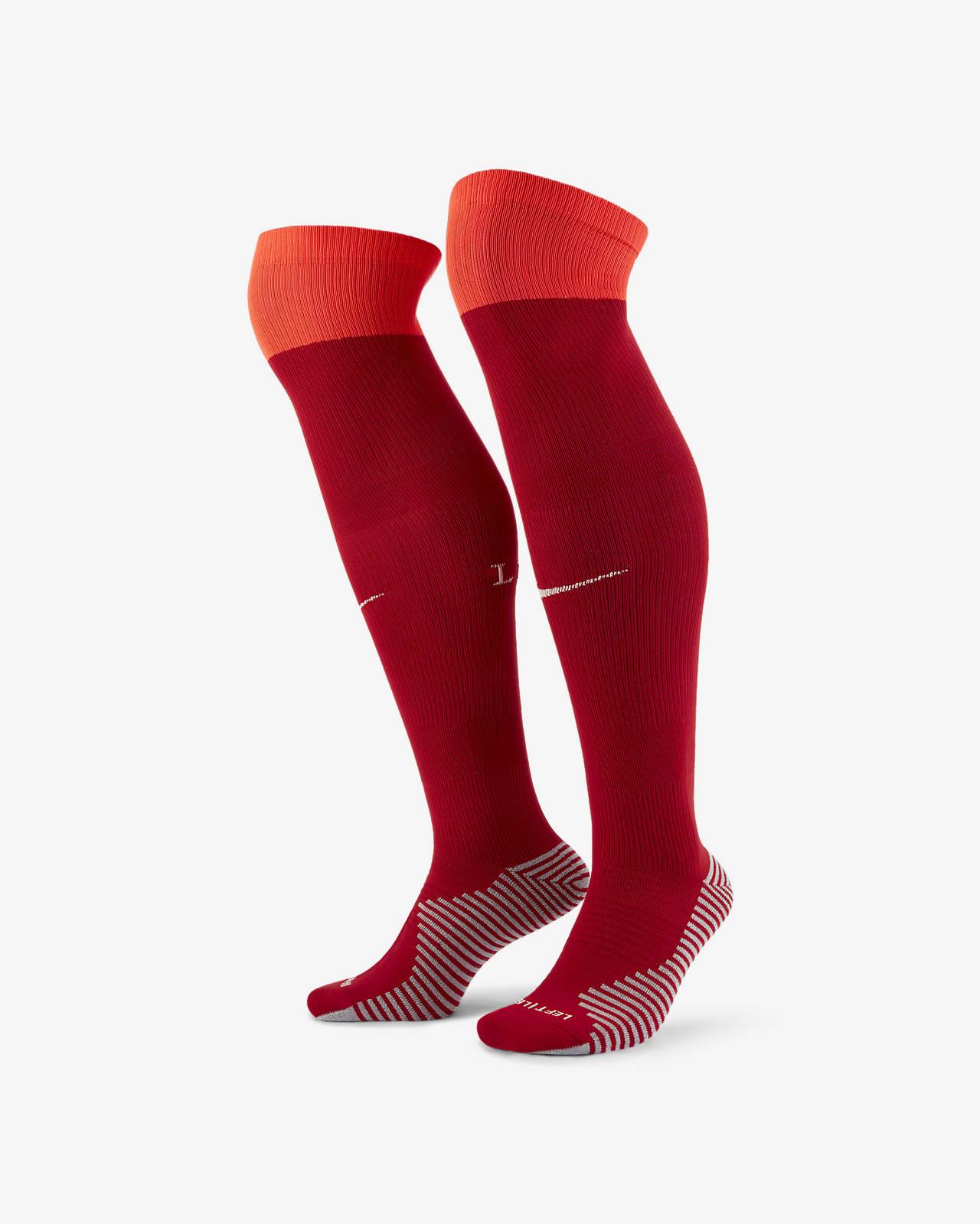 ถุงเท้าฟุตบอลยาวเหนือน่อง Liverpool FC 2021/22 Stadium Home