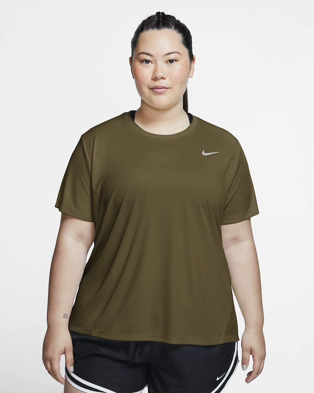 Haut de running à manches courtes Nike Miler pour Femme (grande taille)