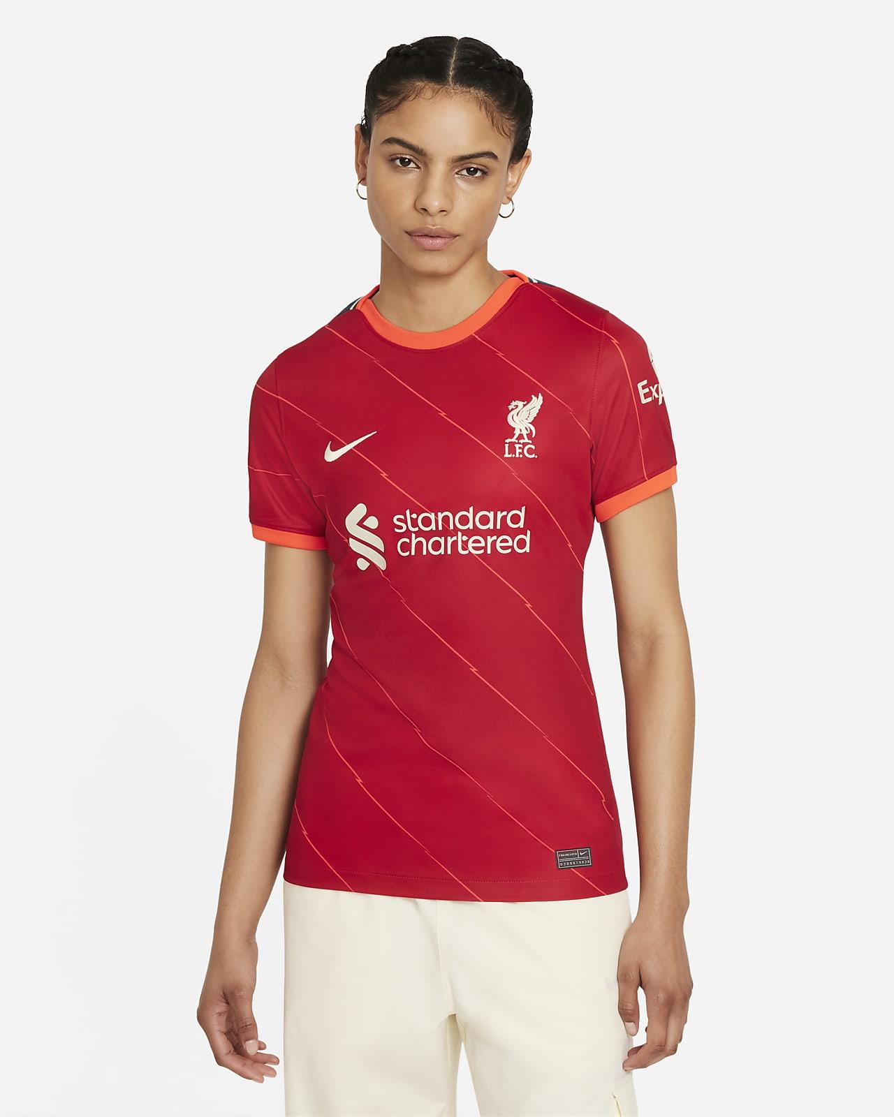 Camisola de futebol do equipamento principal Stadium Liverpool FC 2021/22 para mulher