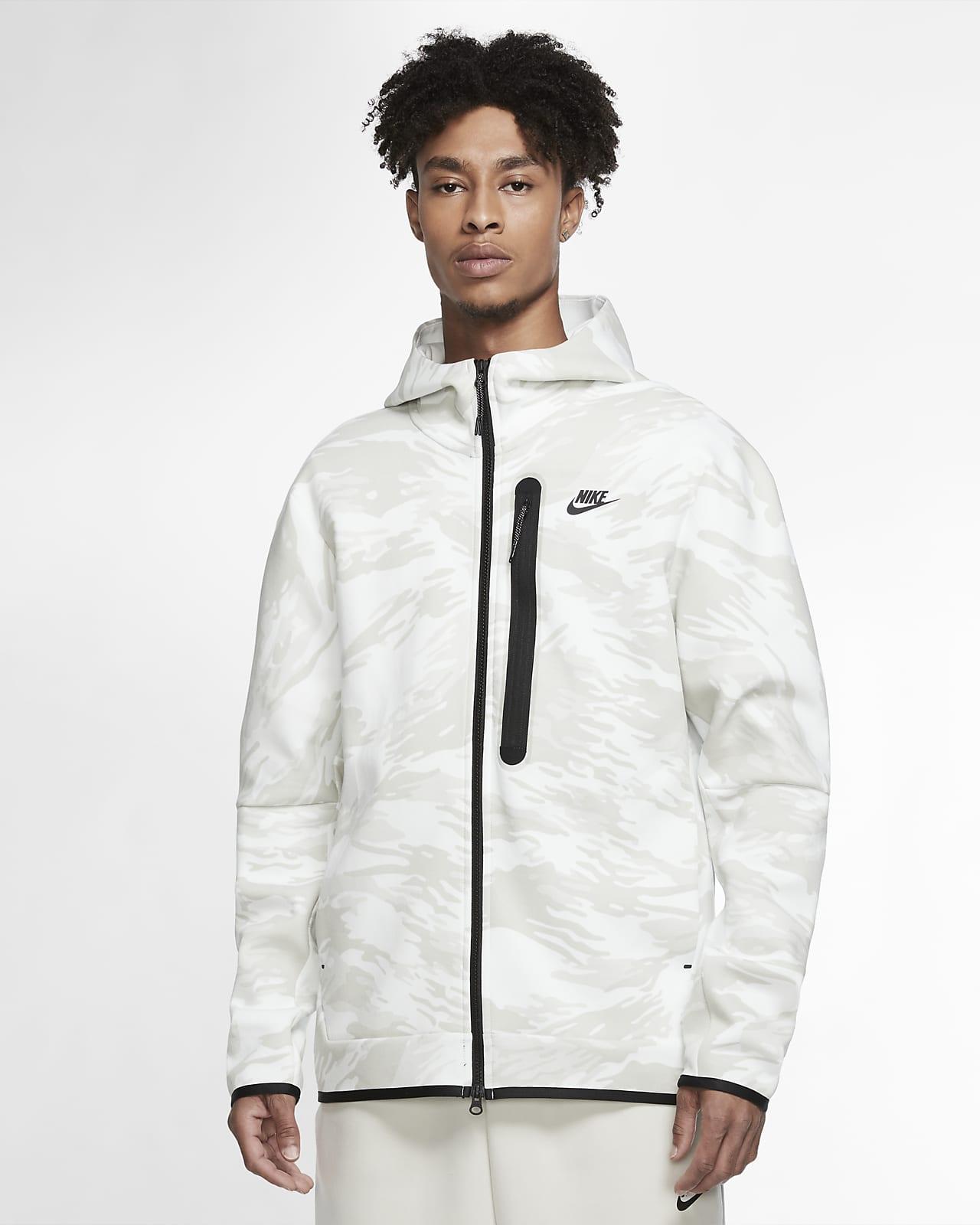 Hoodie com padrão camuflado e fecho completo Nike Sportswear Tech Fleece para homem