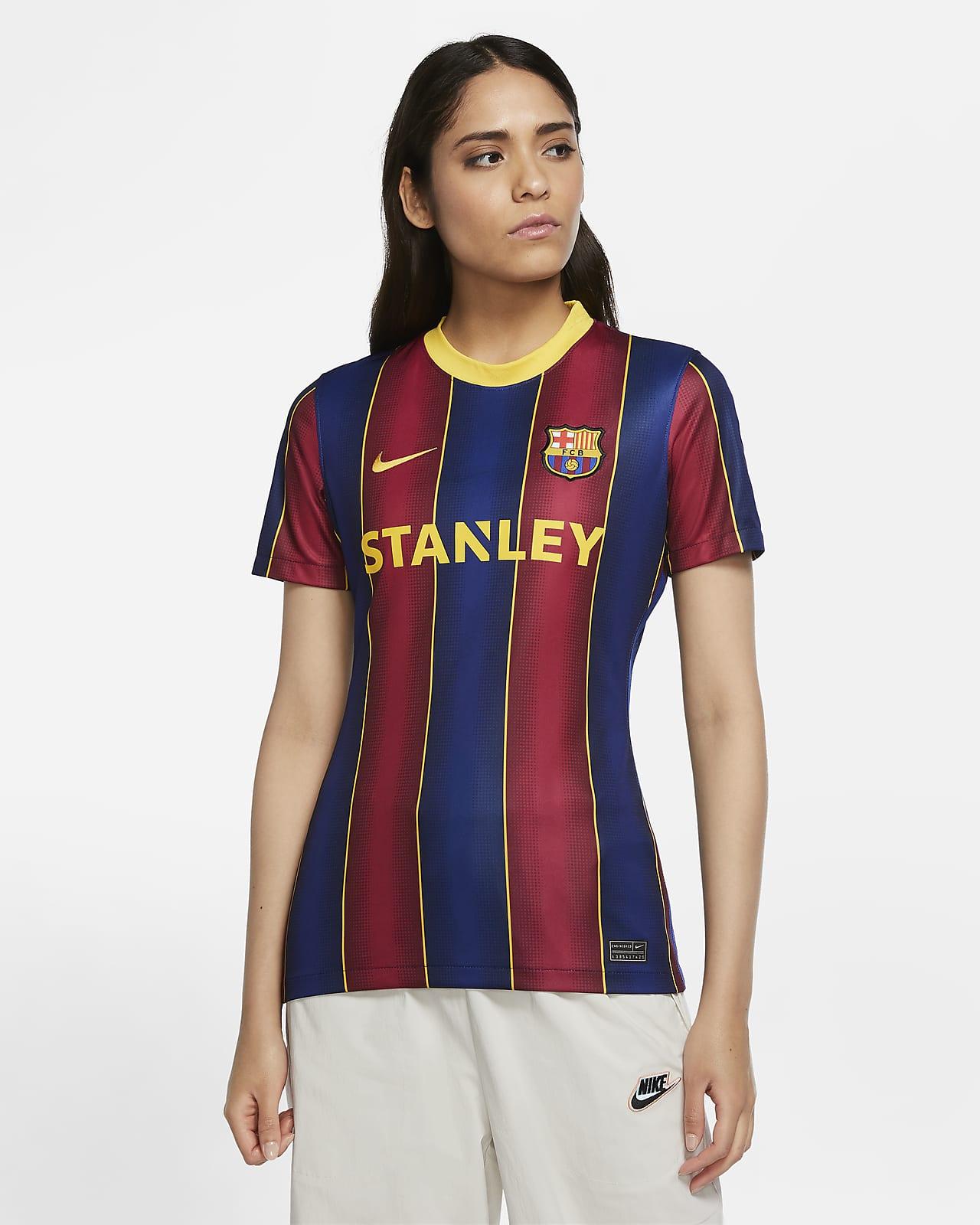 F C Barcelona Women 2020 21 Stadium Home Women S Football Shirt Nike Se