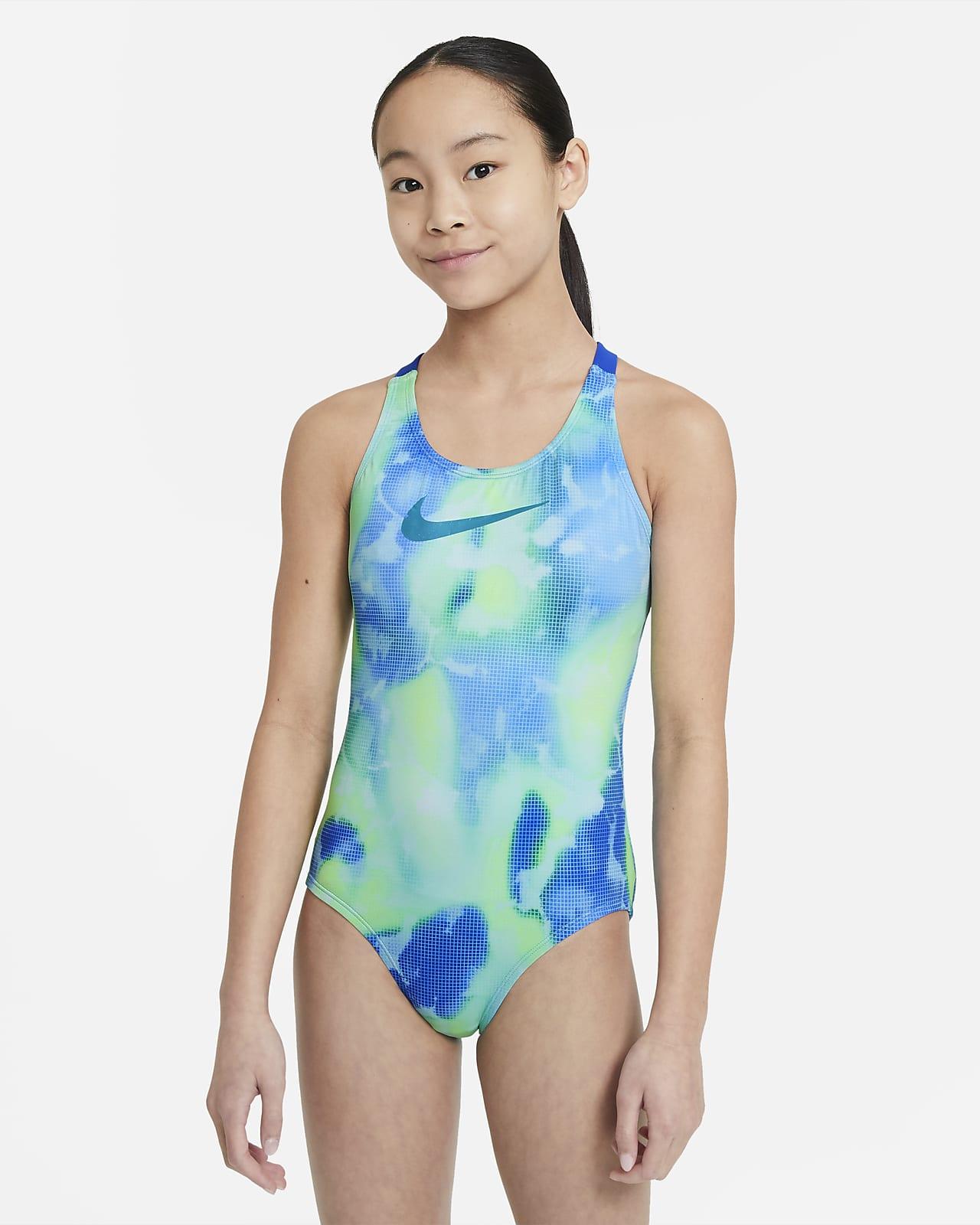 Nike Big Kids' (Girls') Crossback 1-Piece Swimsuit