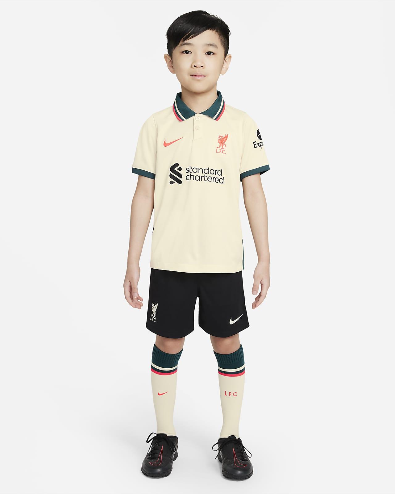 Liverpool FC 2021/22 Away Fußballtrikot-Set für jüngere Kinder