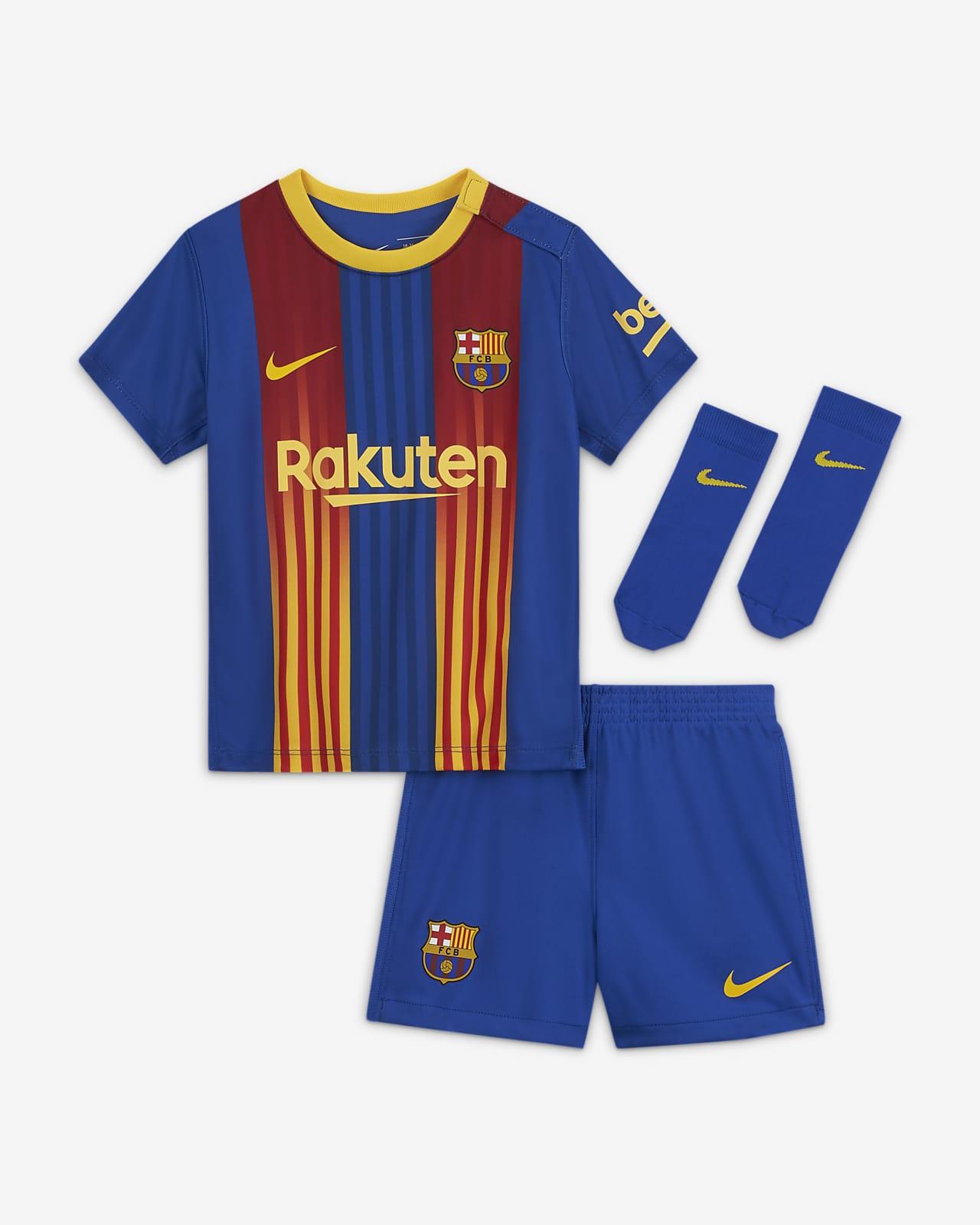 Tenue de football FC Barcelona 2020/21 pour Bébé et Petit enfant