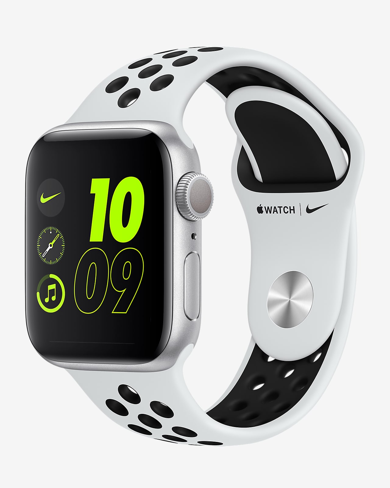 Apple Watch Nike Se Gps Con Correa Deportiva Nike Caja De Aluminio Color Plata De 40 Mm Nike Com