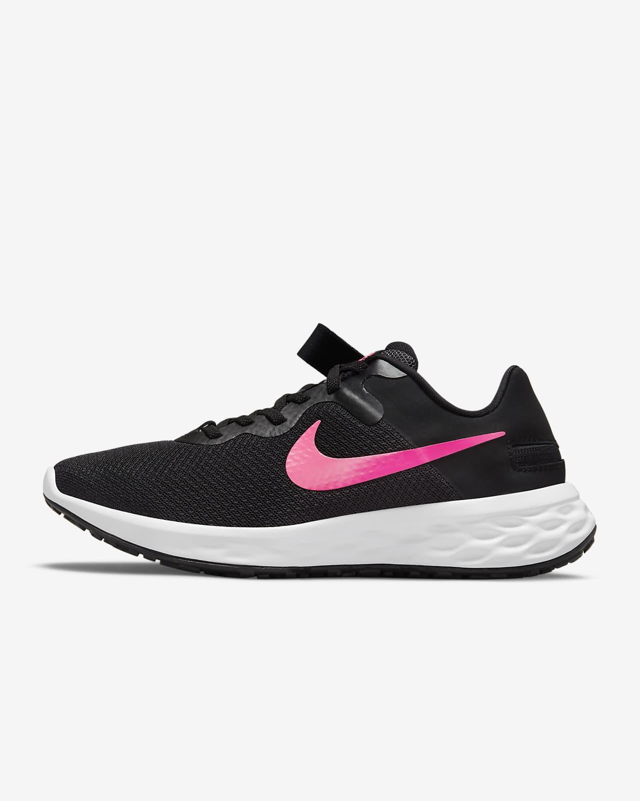 รองเท้าวิ่งโร้ดรันนิ่งผู้หญิงใส่/ถอดง่าย Nike Revolution 6 FlyEase Next Nature